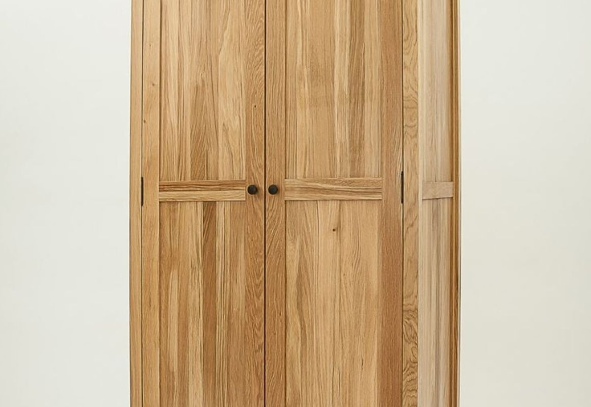 Latest Double Rail Oak Wardrobes In Shelf : Hanging Wardrobe Wonderful Double Rail Wardrobes The (View 7 of 15)