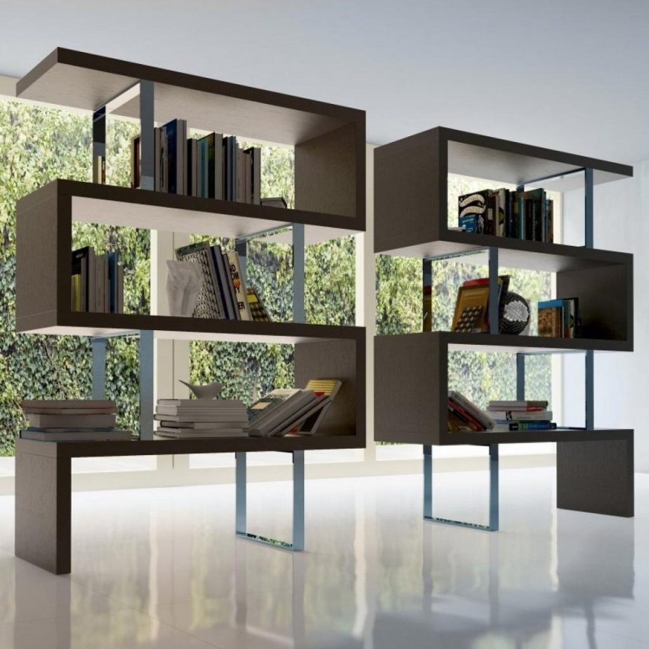 Latest Fascinating Modern Furniture For Modern Living Room Decoration Intended For Free Standing Bookshelves (View 14 of 15)