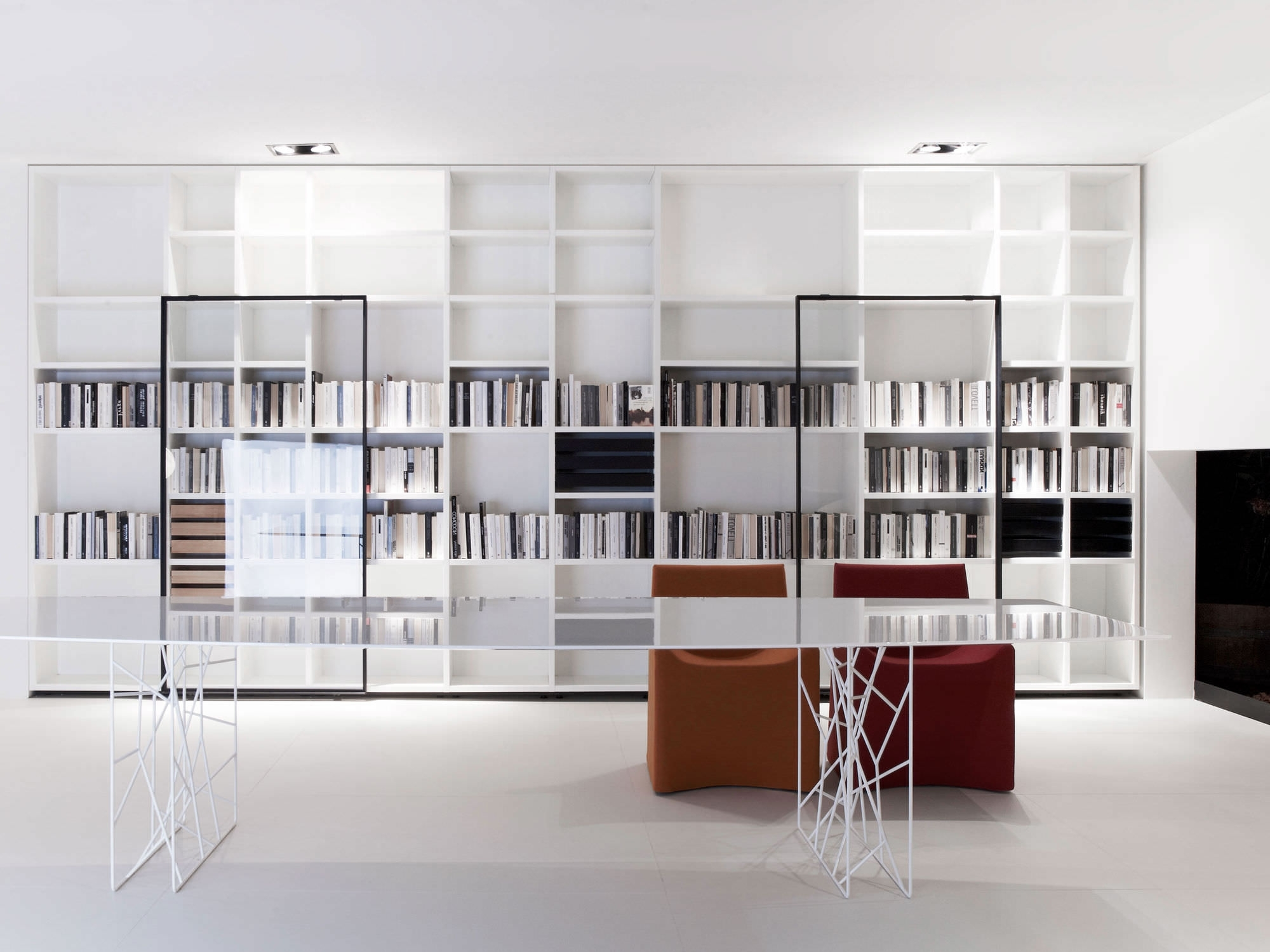 Latest Home Library Shelving System Inside Home Library Design With Modern Interior Decoration (View 13 of 15)
