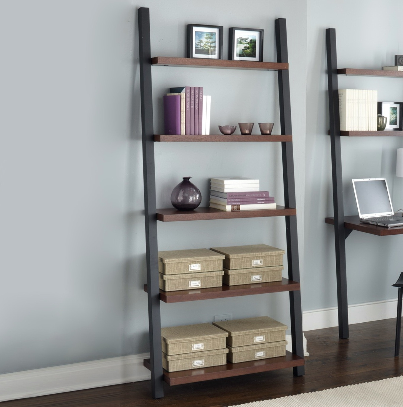 shelves info leaning bookshelf black decoration paml high ikea inch step ladder shelf