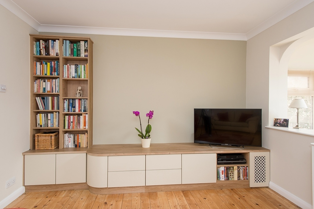 Latest Living Room Fitted Cabinets In Fitted Living Room Furniture In Kent (View 8 of 15)