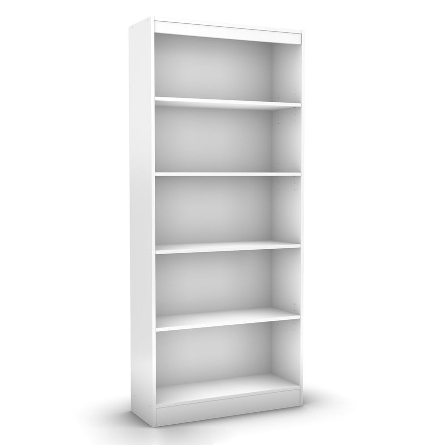 Latest Lowes Bookcases Intended For Shop South Shore Furniture Axess Pure White 5 Shelf Bookcase At (View 4 of 15)