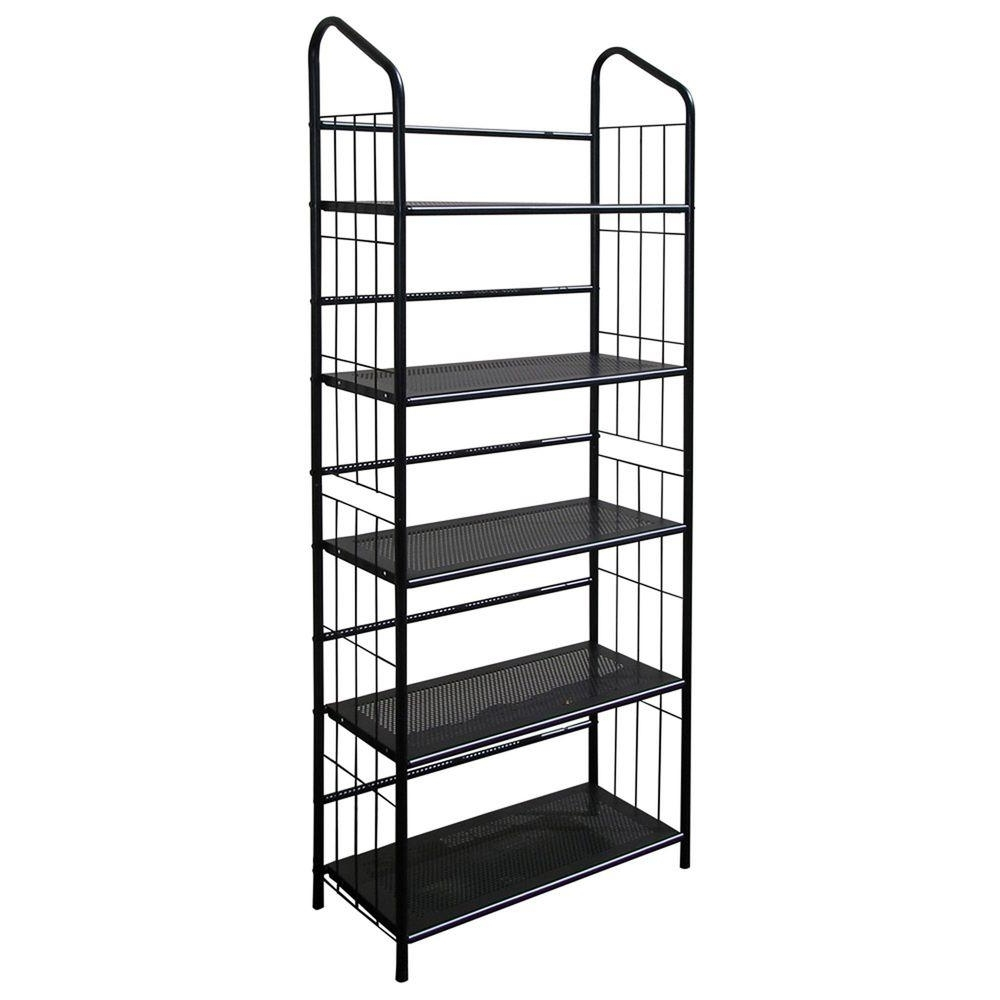 Latest Metal Bookcases With Black Steel Bookcase R597 5 – The Home Depot (View 12 of 15)