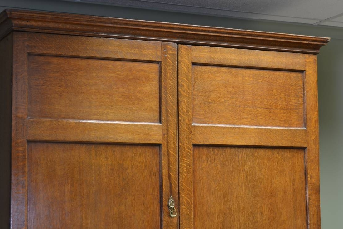 Latest Oak Linen Cupboard With Large Georgian Golden Oak Antique Linen Press / Cupboard (View 8 of 15)