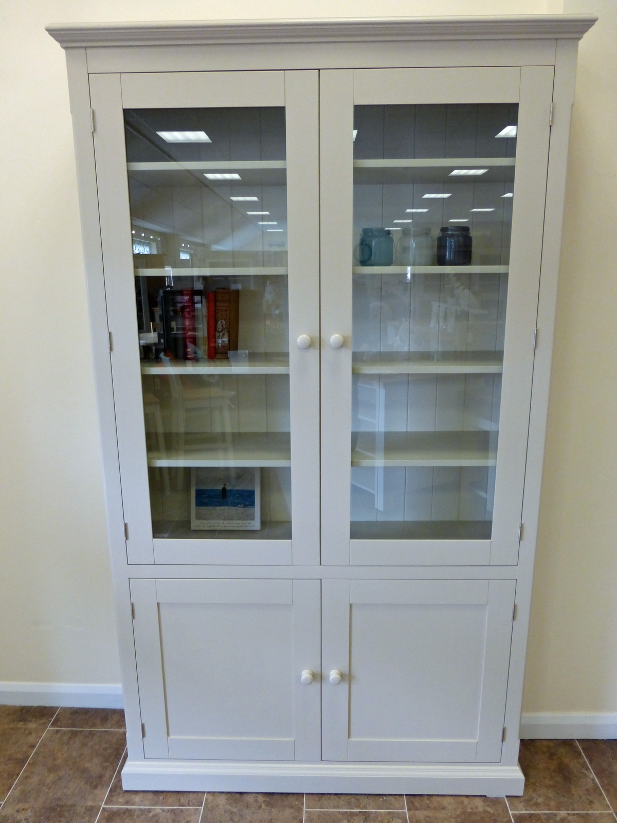 Latest Painted Glazed Bookcase Huge Choice Of Sizes Available – Edmunds With Regard To Glazed Bookcases (View 9 of 15)