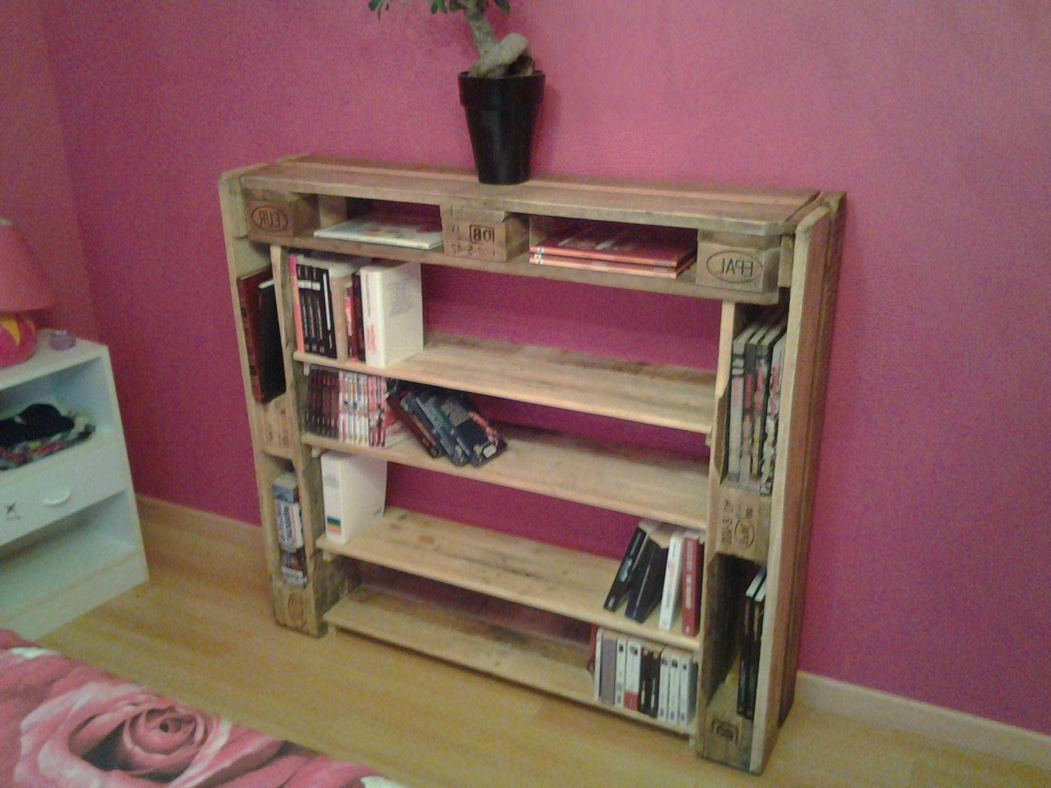 Latest Pallet Bookcases Pertaining To Bibliothèque / Pallet Bookshelf • 1001 Pallets (View 14 of 15)