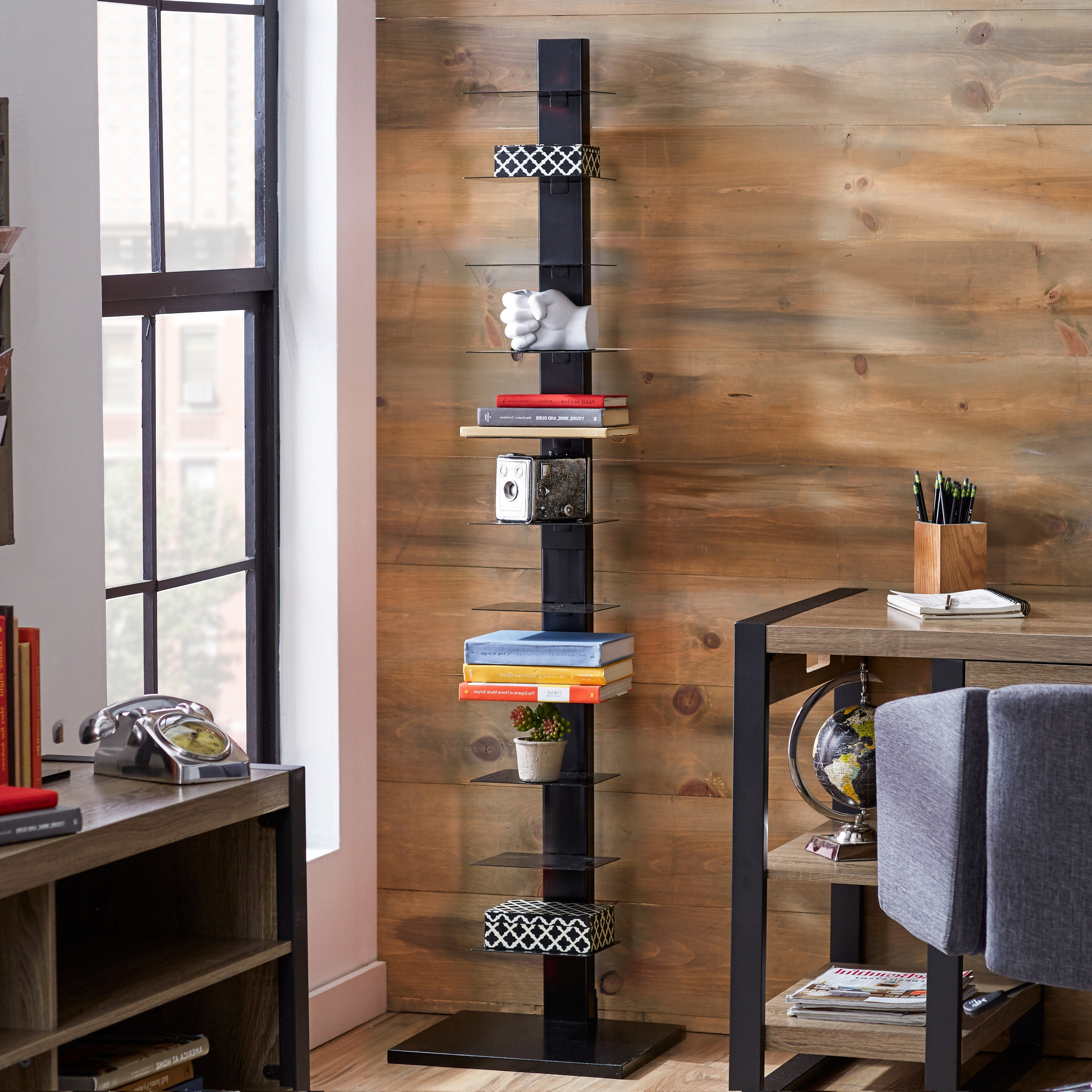 Latest Spine Bookcases In Mercury Row Albus Etagere Bookcase & Reviews (View 4 of 15)