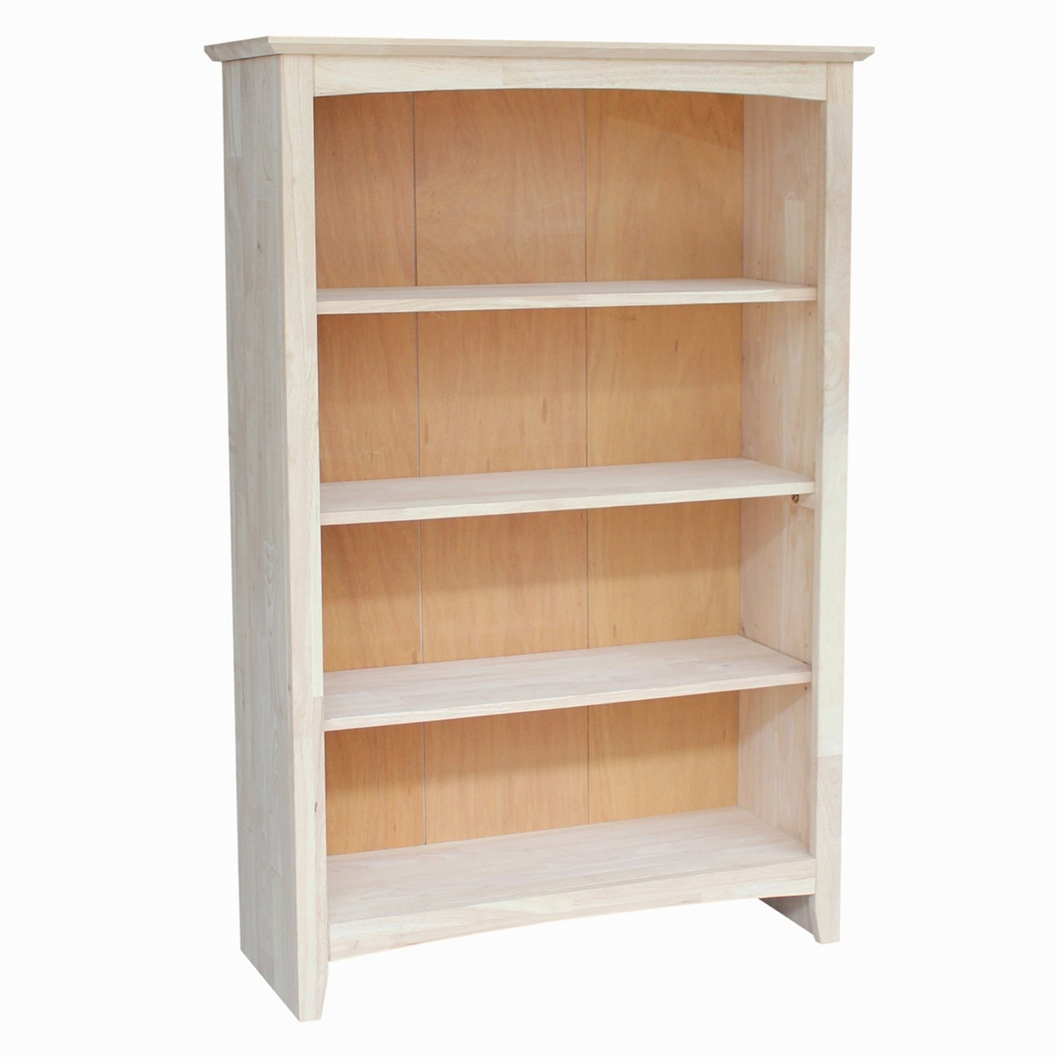 Latest Unfinished Bookcases In Amazon: International Concepts Shaker Bookcase, 48 Inch (View 10 of 15)