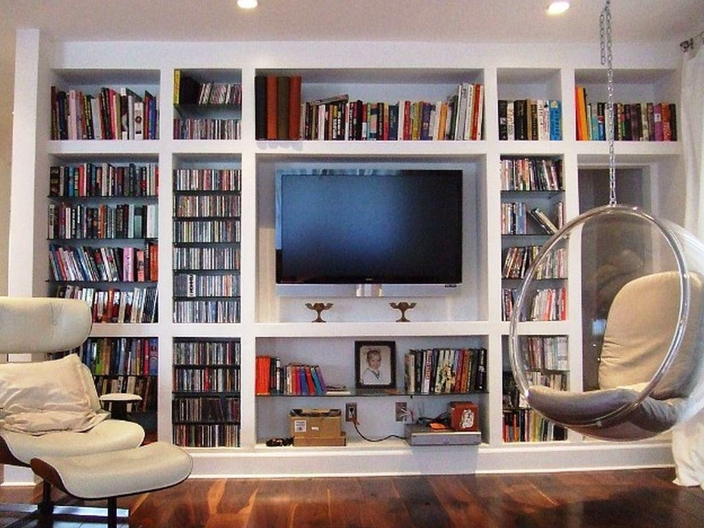 Latest Whole Wall Bookshelves Throughout Wall Bookshelves Storage Decor — Home Designs Insight (View 6 of 15)