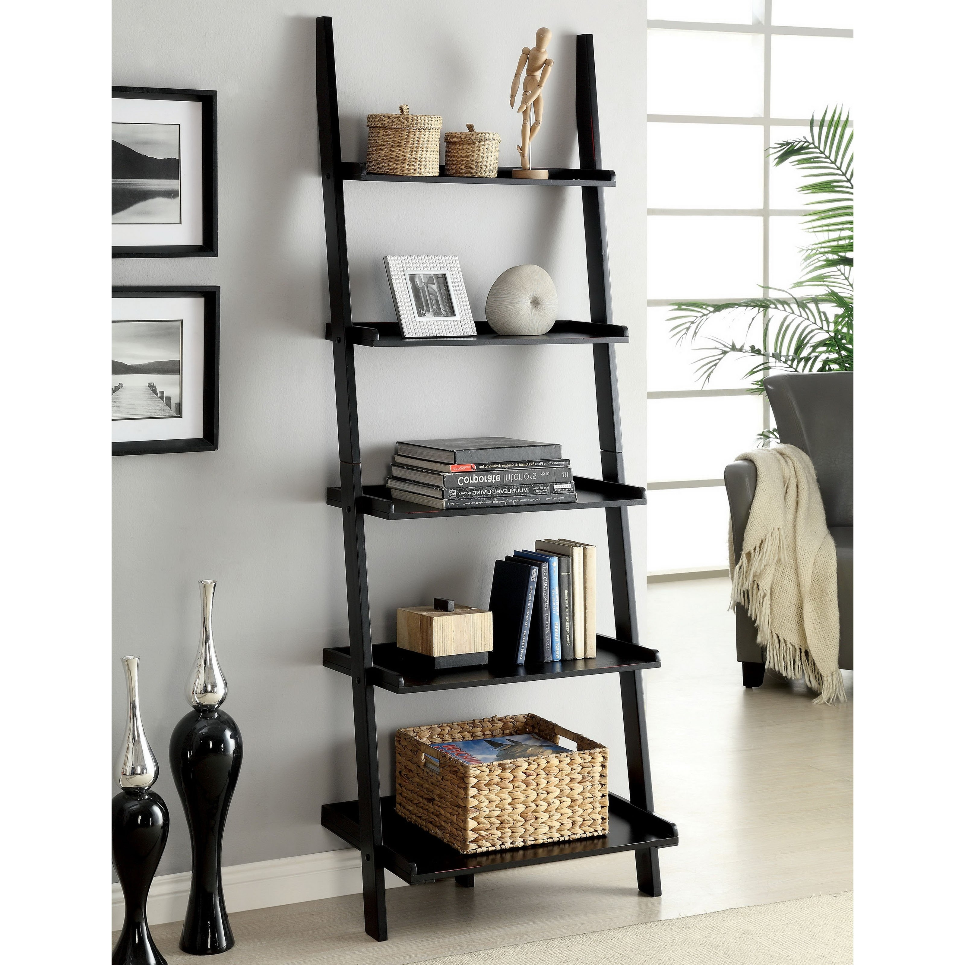 Leaning Shelf Bookcases Within Preferred Bookshelf (View 5 of 15)