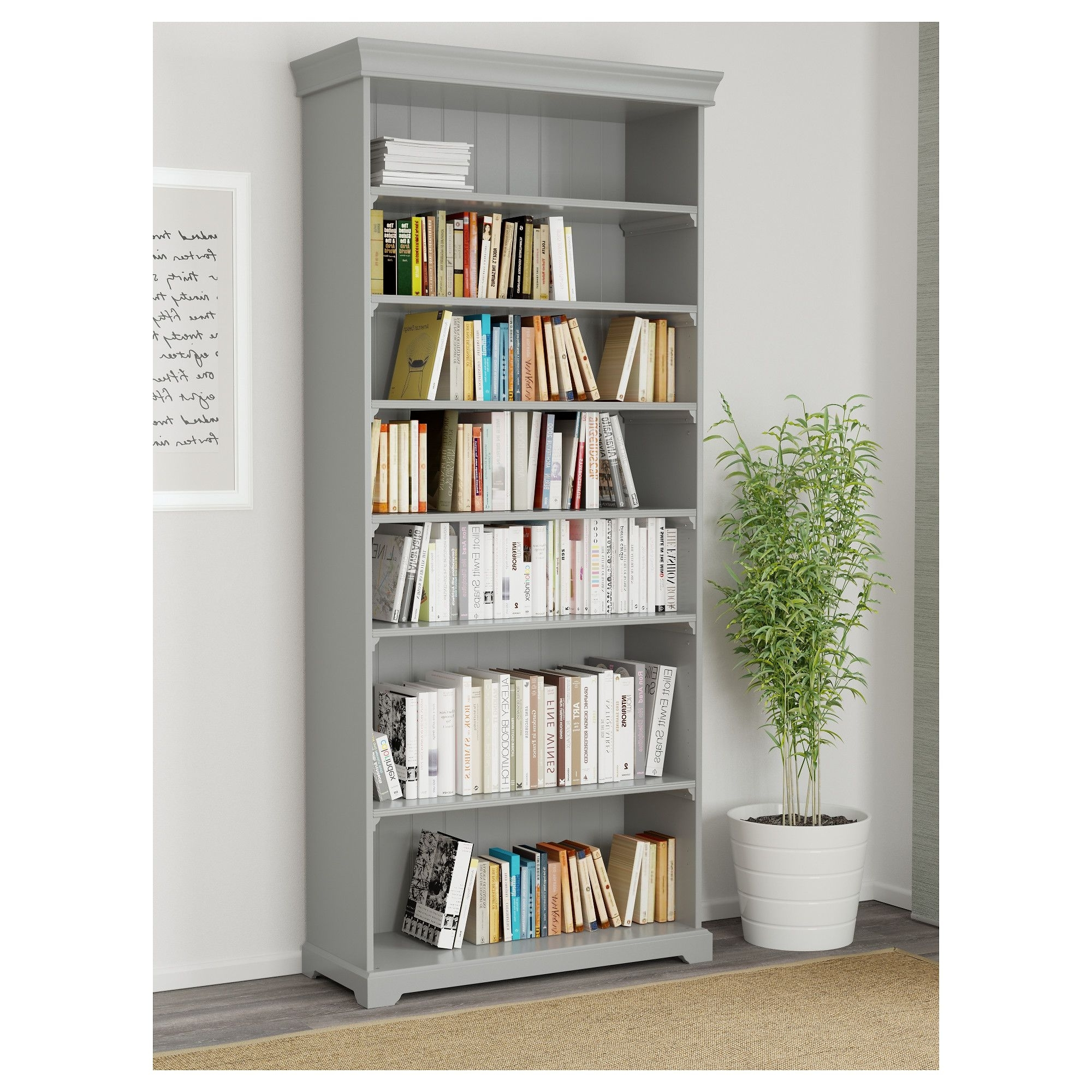 Liatorp Bookcases Intended For Well Known Liatorp Bookcase, Gray (View 4 of 15)