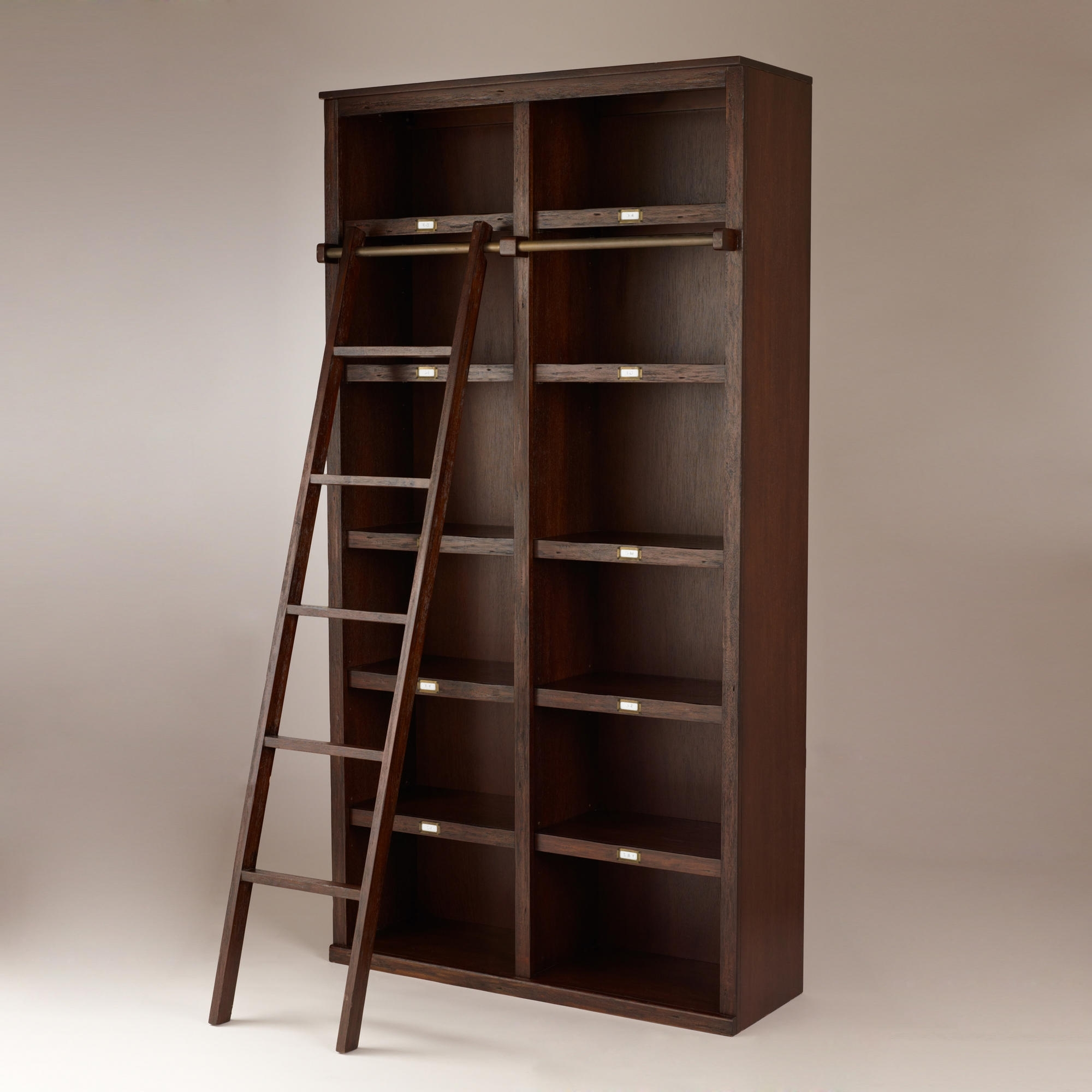 Library Bookcase With Ladder : Doherty House – Build A Library Throughout Widely Used Wooden Library Ladders (View 13 of 15)