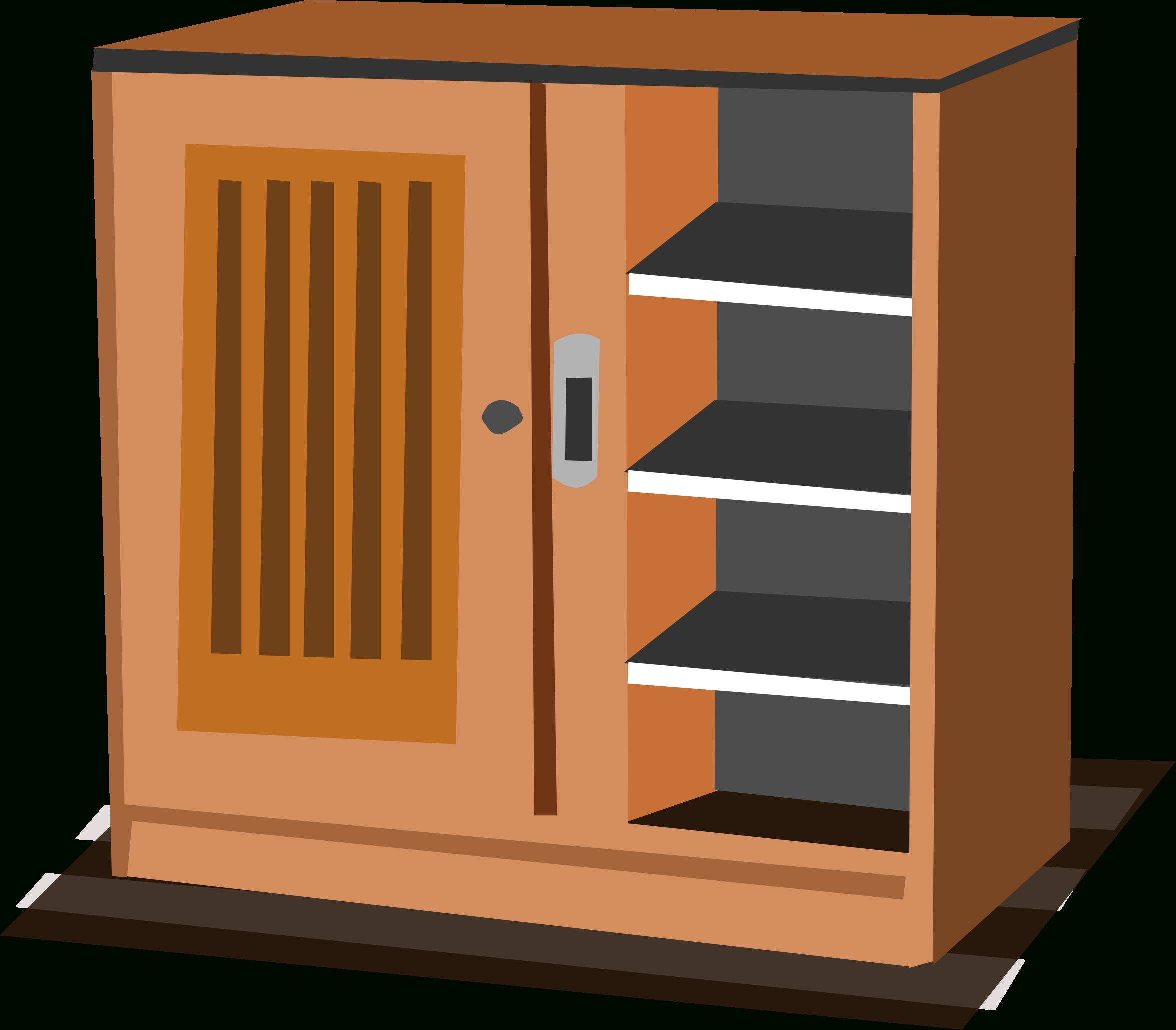 Library Cupboards With Regard To Preferred Cupboard Clipart Black And White – Clip Art Library (View 15 of 15)