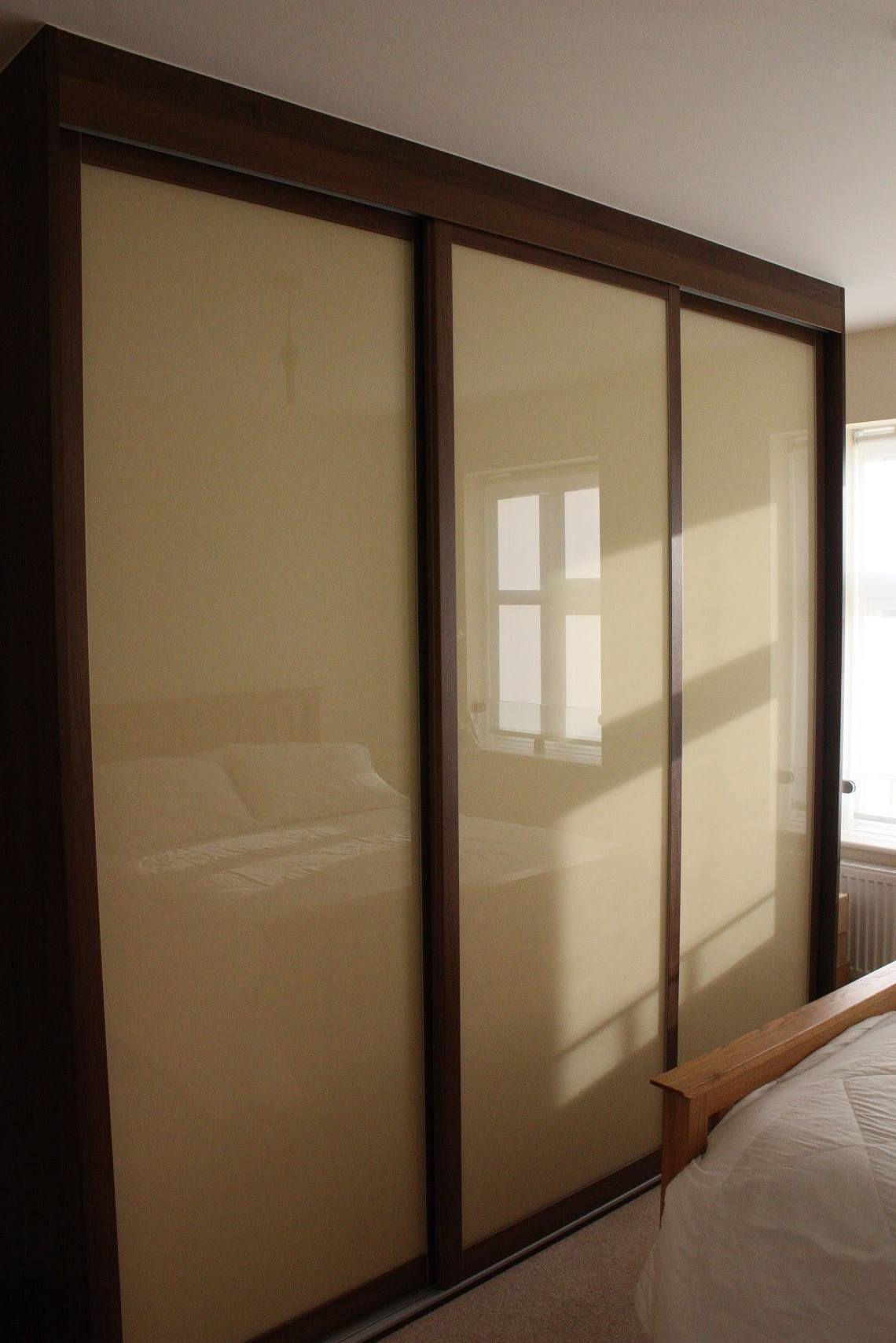 Light Brown Glass Intended For Well Known Dark Wood Wardrobes With Mirror (View 10 of 15)