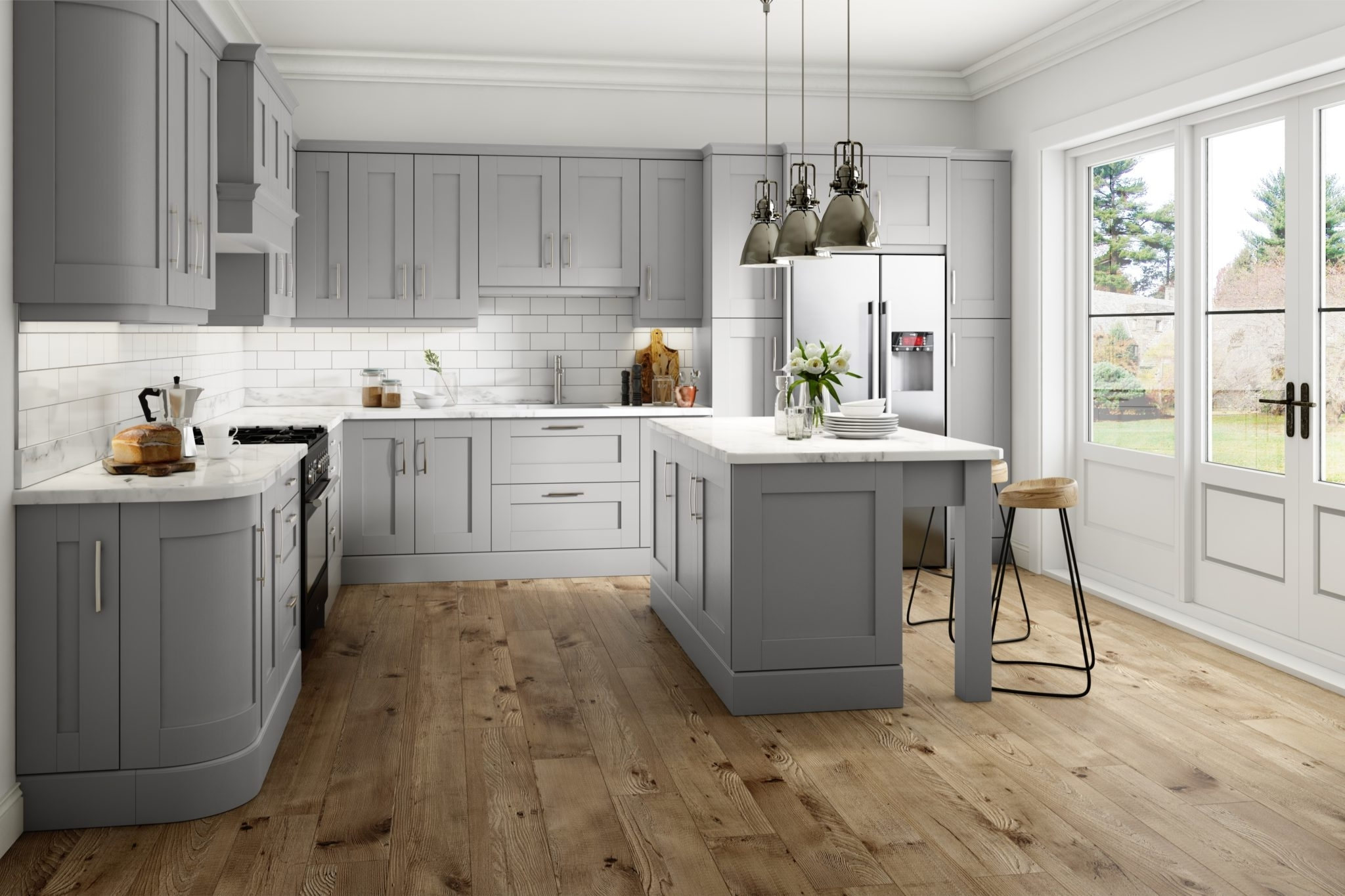 Light Grey Kitchen Cabinets #0 – Made To Measure Kitchens Kitchen Throughout Latest Made To Measure Cabinets (View 5 of 15)
