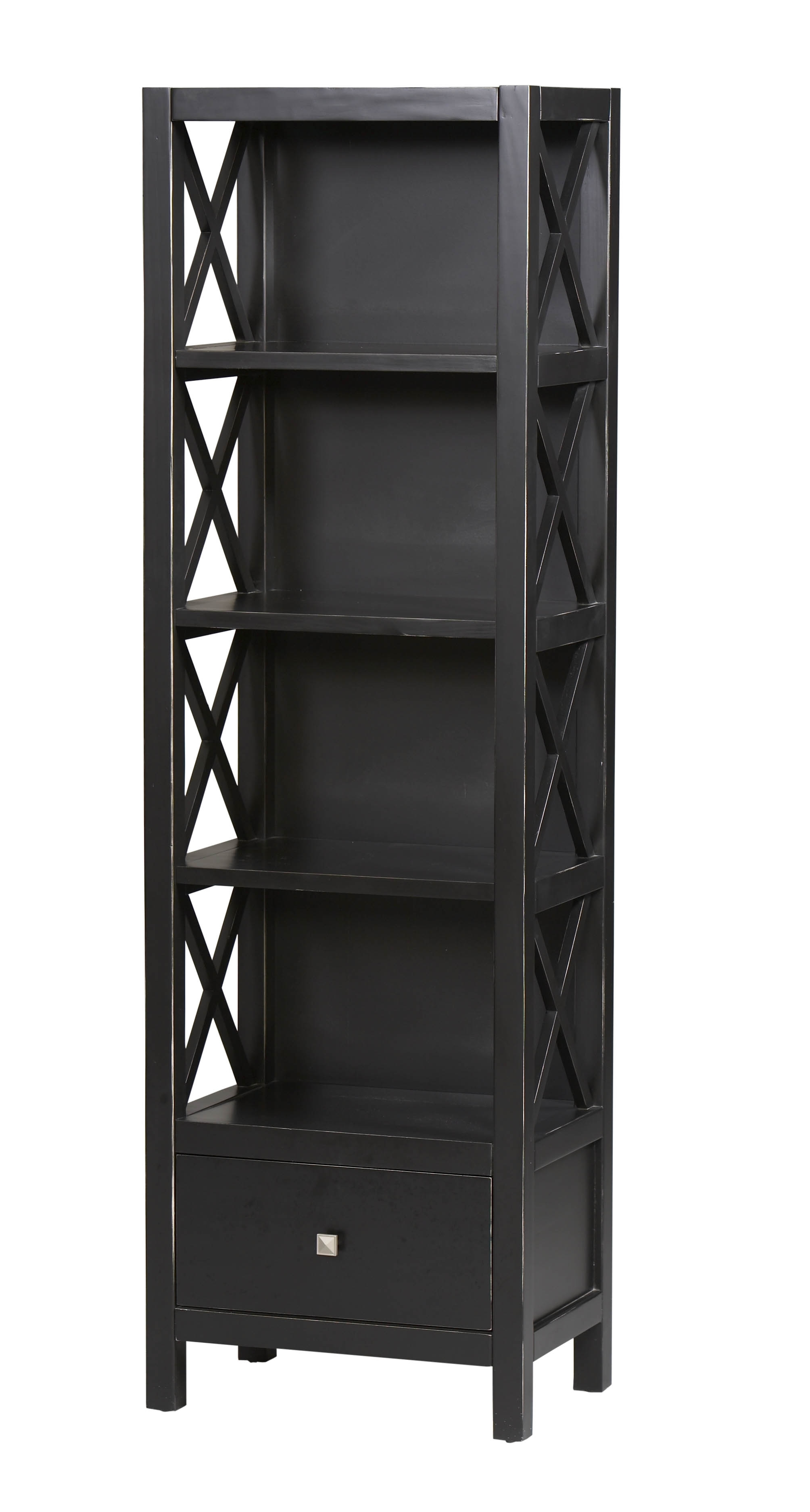 Linon Anna Tall Narrow Bookcase K86102c124 Inside Most Recent Tall Narrow Bookcases (View 2 of 15)