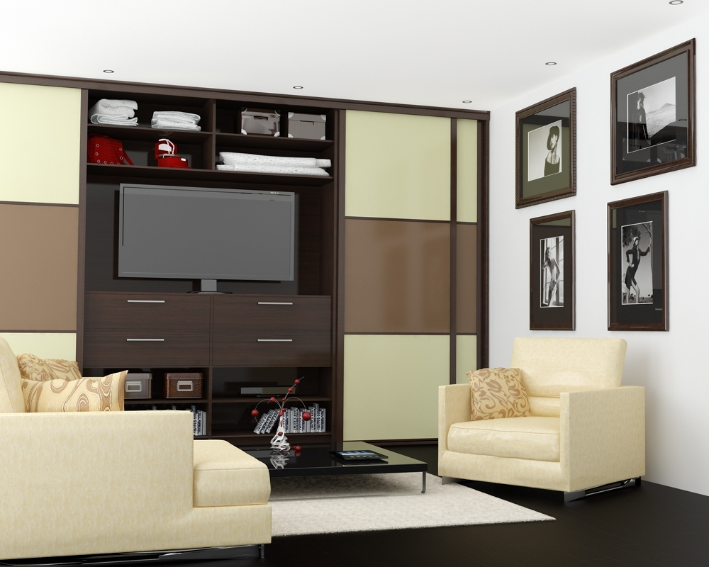 Living Room Wardrobe With Space For Tv In The Middle (View 2 of 15)