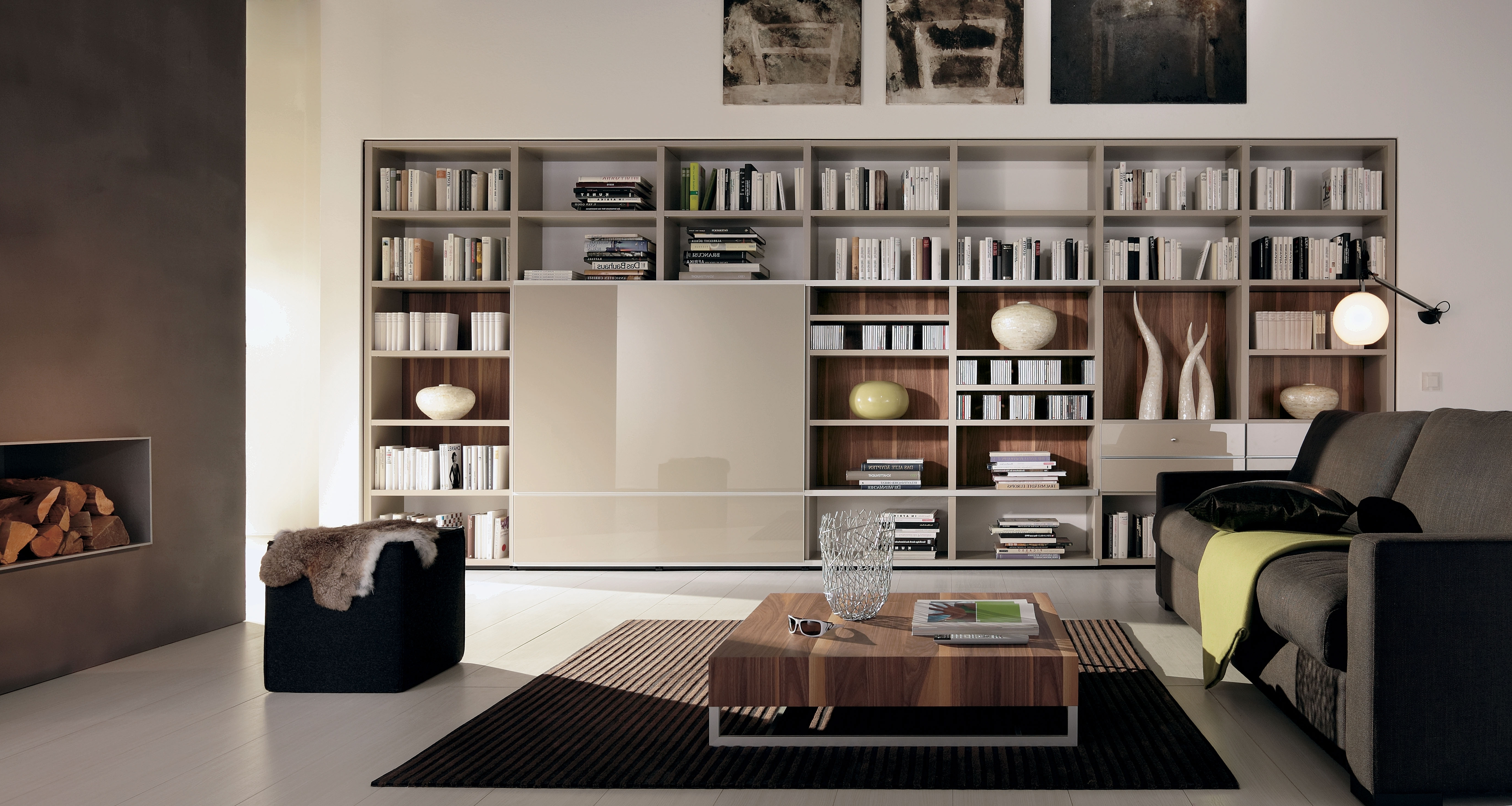 Living Room With Small Library Design Library Room Designs In Famous Design A Bookcases (View 10 of 15)