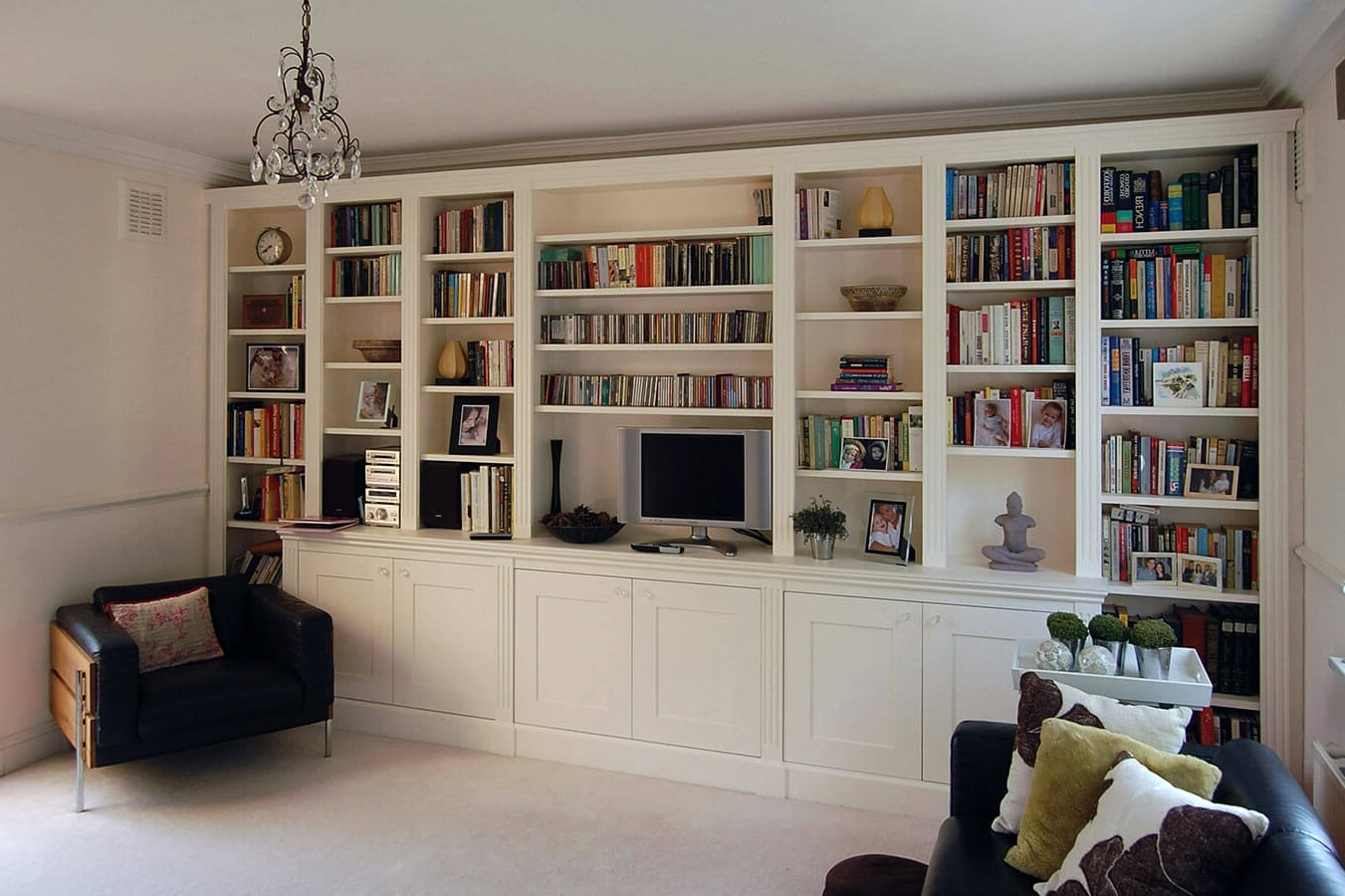 Living Spaces Intended For Popular Fitted Shelves (View 2 of 15)