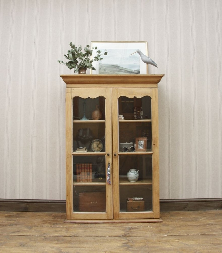Lockable Bookcases In Favorite Glazed Pine Bookcase, Dresser Top, Kitchen Cabinet, Painted (View 9 of 15)