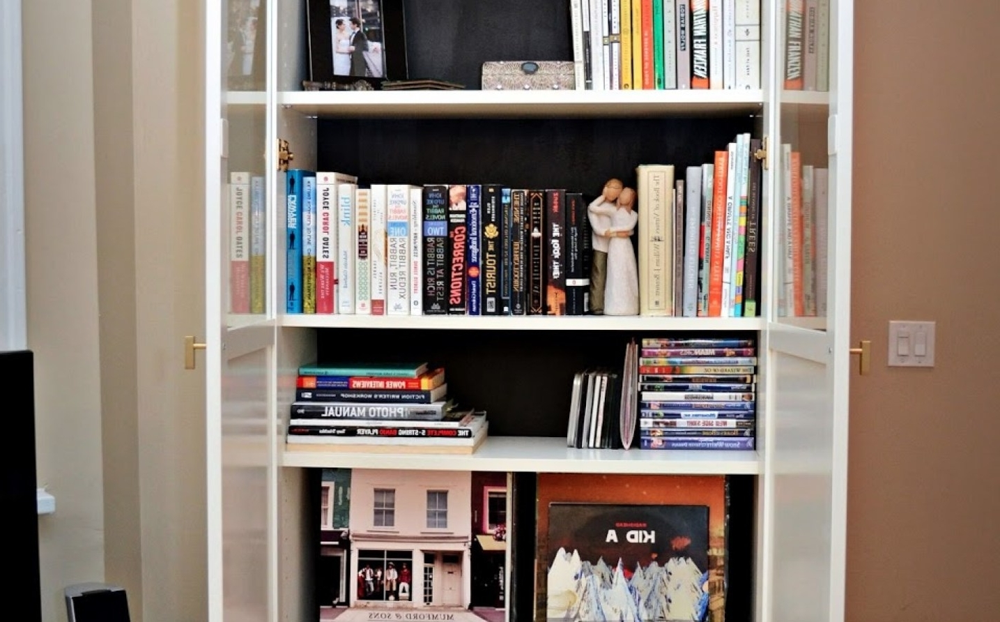 Lockable Bookcases Within Most Recent Shelf : Inch Deep Storage Cabinet Lockable Metal With Shelves (View 11 of 15)
