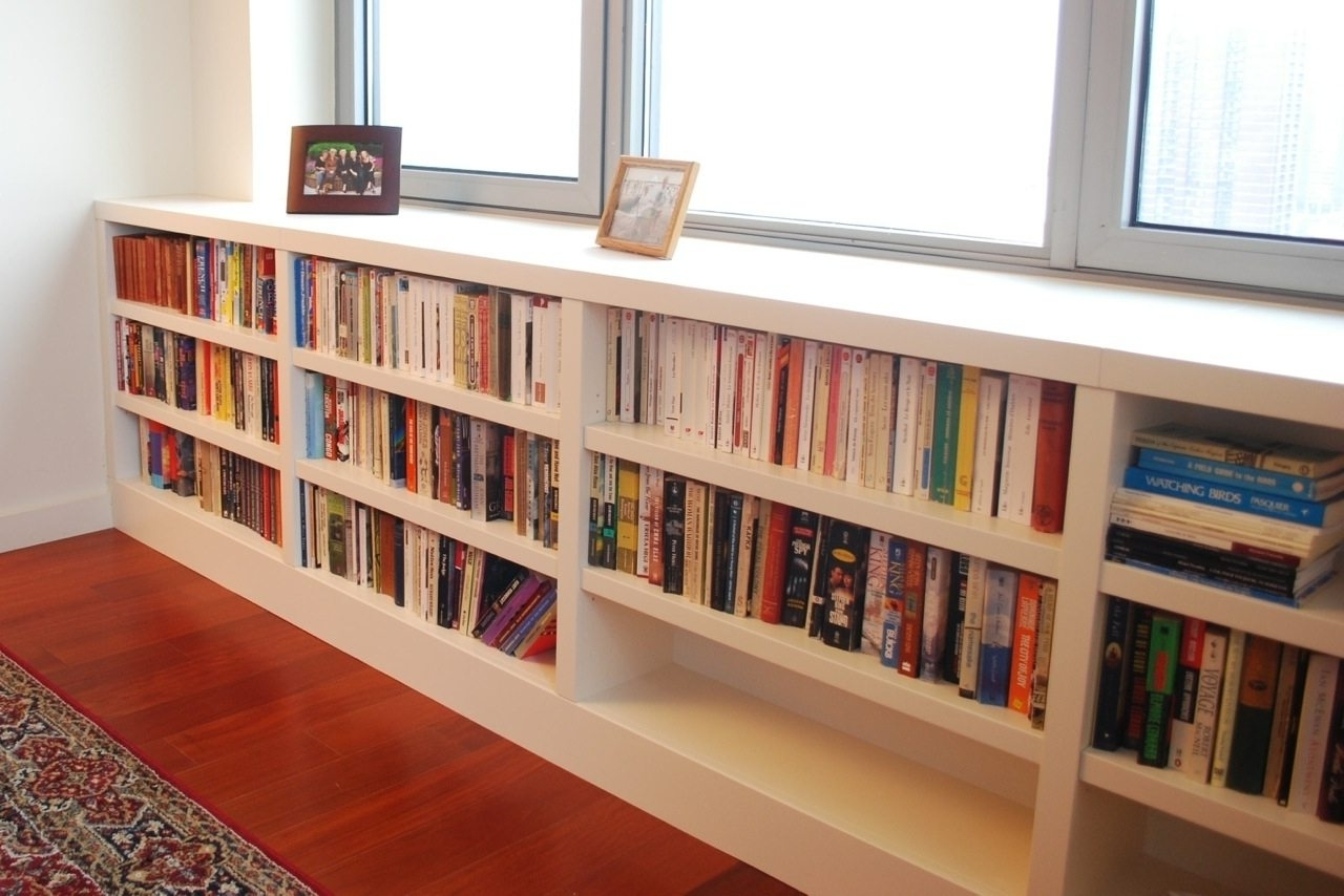 Long Bookcases Within Current Furniture Home: Long Horizontal Bookcase Stunning Pictures Ideas (View 8 of 15)