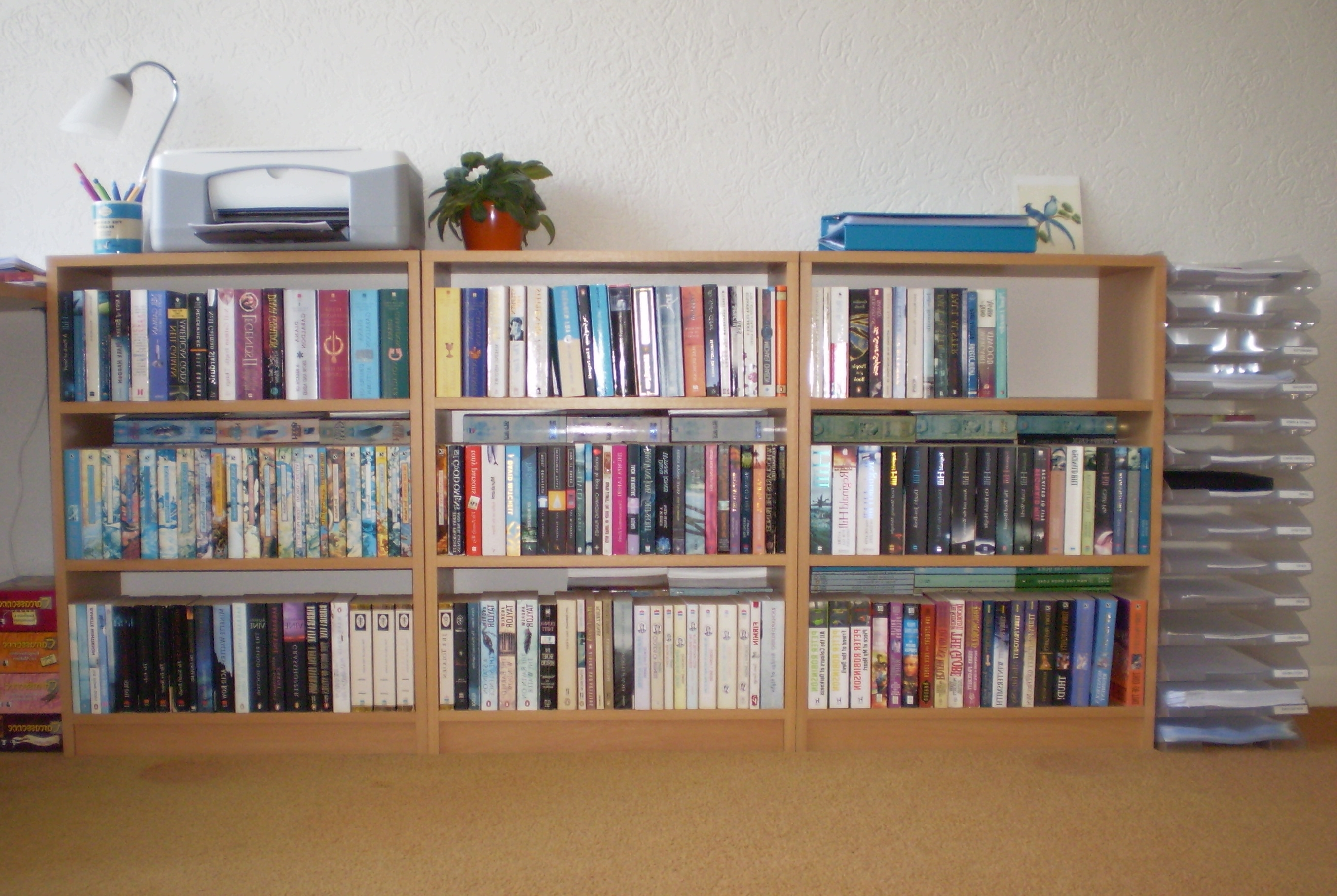 Long Low Bookcases Throughout Well Liked Bookshelf: Interesting Low Bookcases Bookshelves With Doors (View 8 of 15)