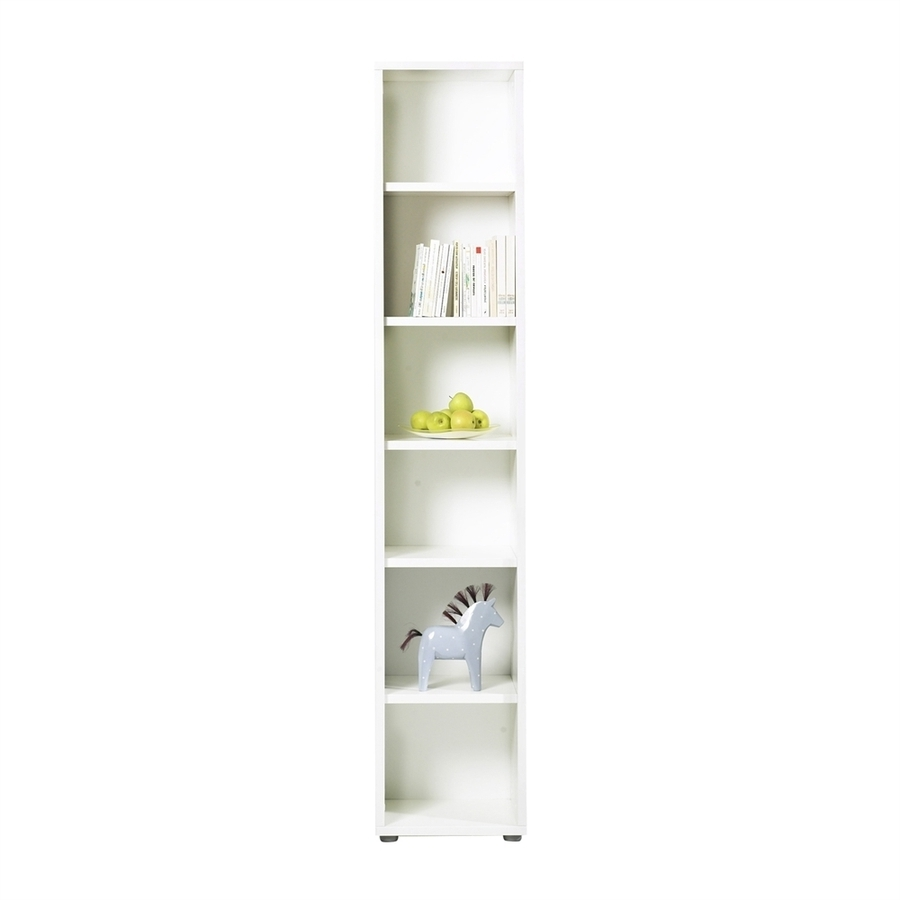 Lowes Bookcases For Most Recent Shop Tvilum Fairfax White Wood 6 Shelf Bookcase At Lowes (View 6 of 15)