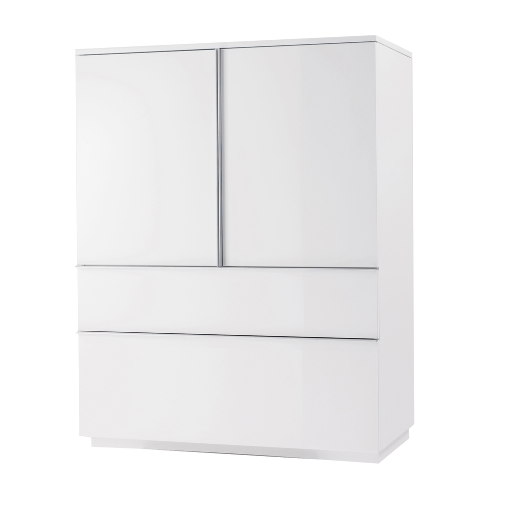 Madison Storage Cupboard White – Dwell Intended For 2017 Large Storage Cupboards (View 7 of 15)