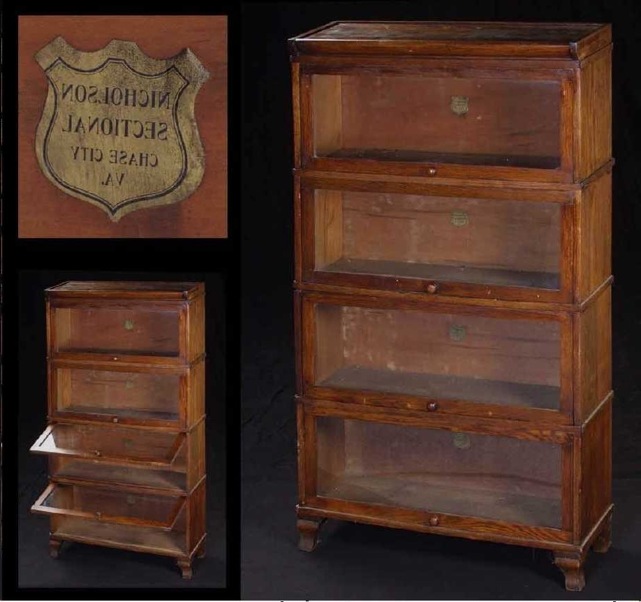 Mahogany Barrister Bookcase Stackable Lawyer Lawyers Baron For Current Lawyer Bookcases (View 5 of 15)