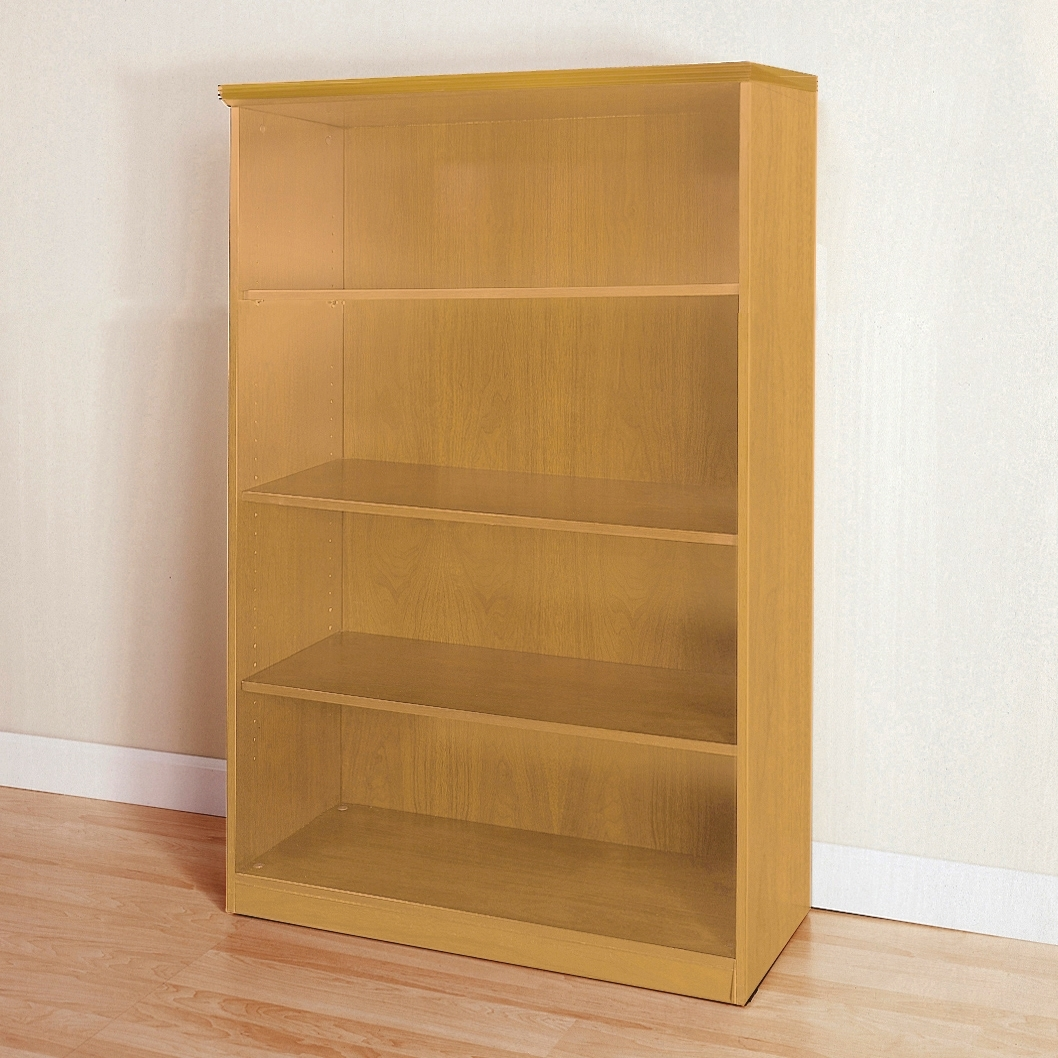 Mayline Luminary Series 4 Shelf Bookcase With 4 Shelf Bookcases (View 2 of 15)
