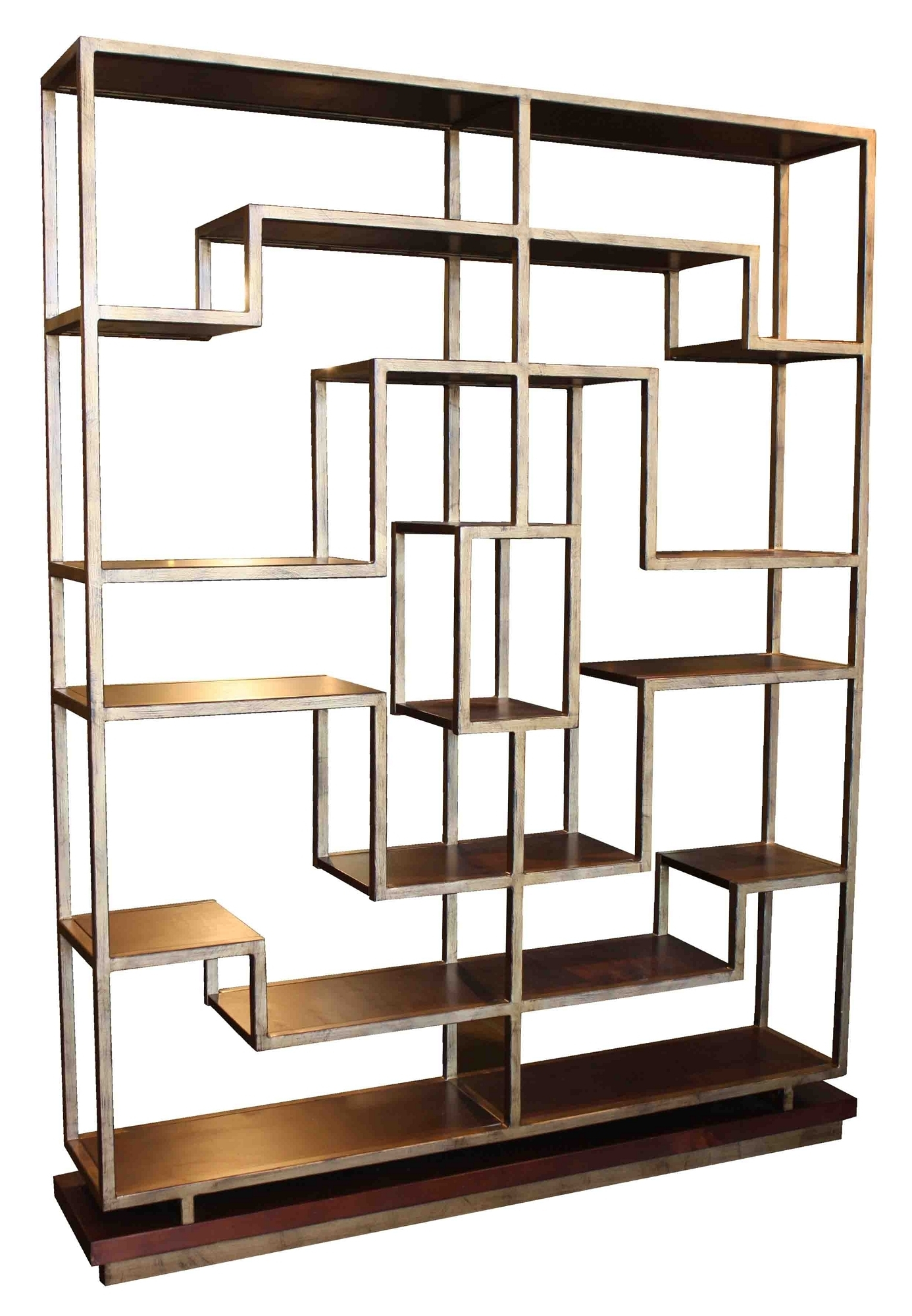 Metal And Wood Bookcases In Most Current Bookcases Ideas: Bookcases Wood Metal And Glass Crate And Barrel (View 8 of 15)