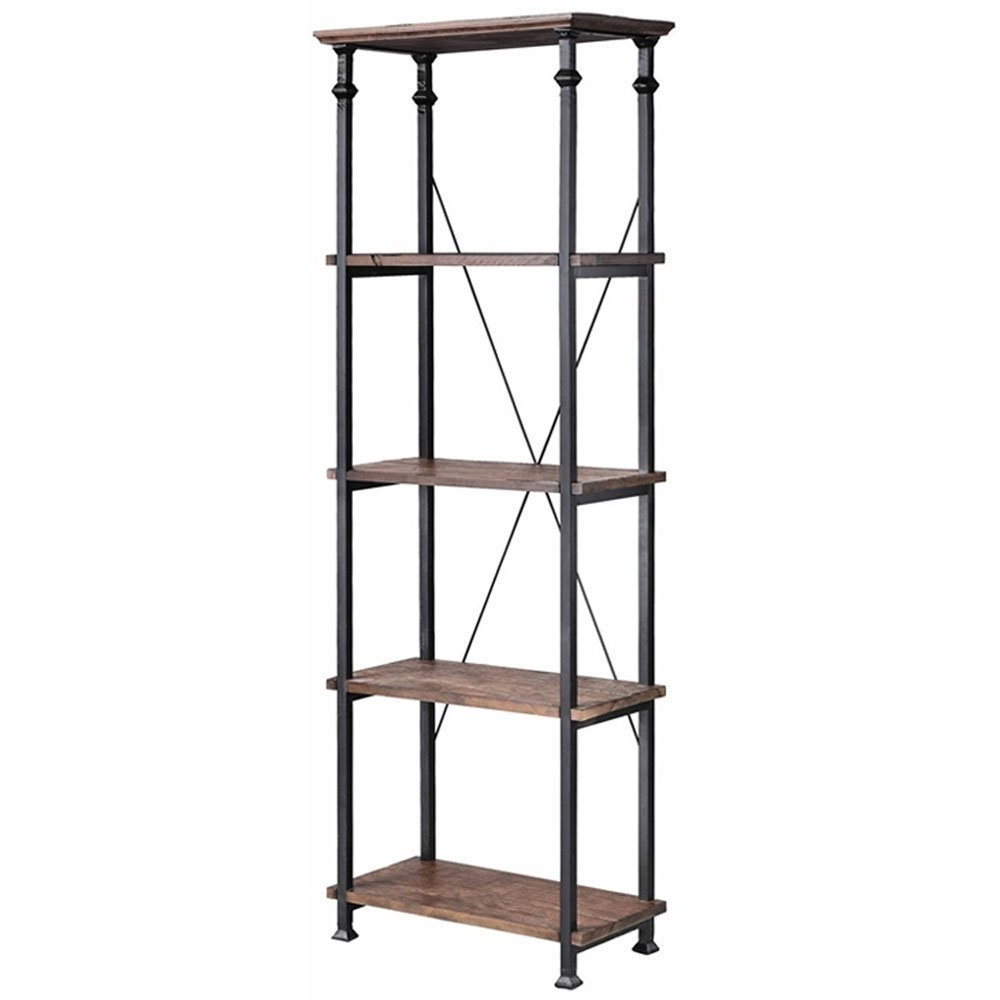 Metal Bookcases For Most Recently Released Amazon: Stein World Furniture Metal Étagère/bookcase, Natural (View 8 of 15)