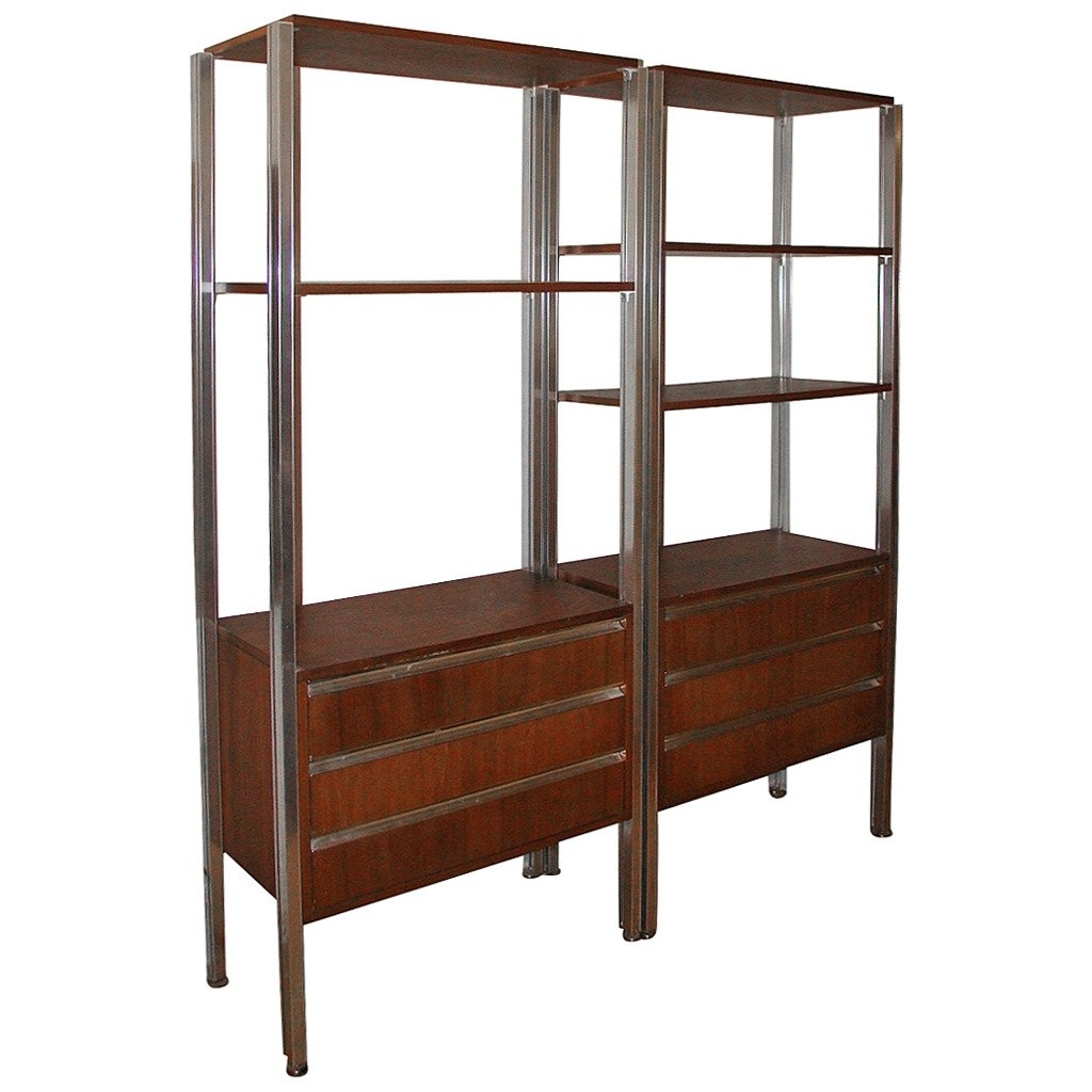 Mid Century Bookcases With Regard To Most Popular Pair Of Italian Modern Mid Century Bookcase Storage Wall Units At (View 9 of 15)