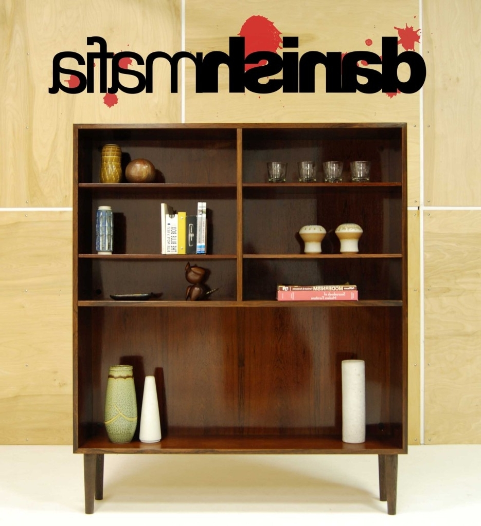 Mid Century Danish Modern Rosewood Office Bookcase Shelf Display Throughout Preferred Mid Century Modern Bookcases (View 5 of 15)