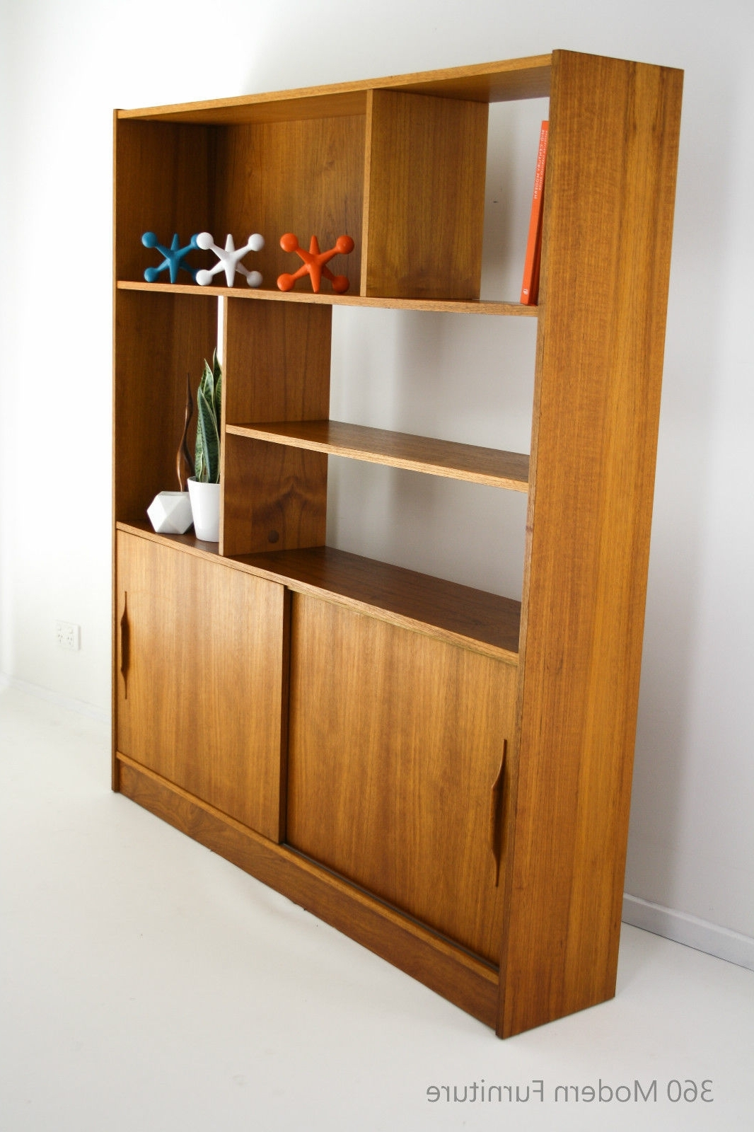 Mid Century Room Divider Wall Unit Bookcase Teak Shelves Retro For Latest Teak Bookcases (View 14 of 15)