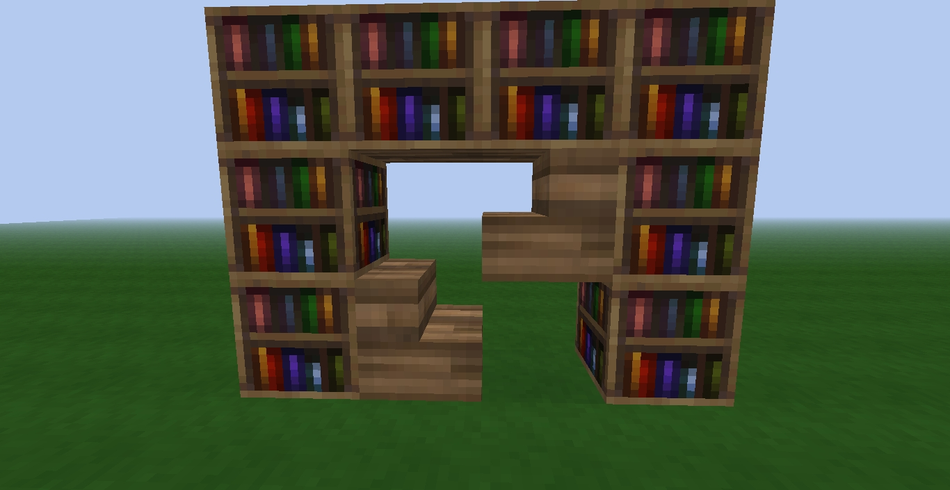 Minecraft Bookcases Intended For Latest Bookcase Minecraft Home : Doherty House – How Build Bookcase (View 8 of 15)