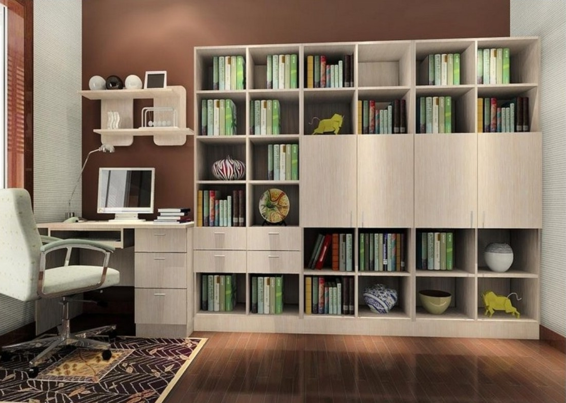 Modern Bookshelf For Study Room Bookcase Design Photos On Within Recent Study Shelving (View 7 of 15)