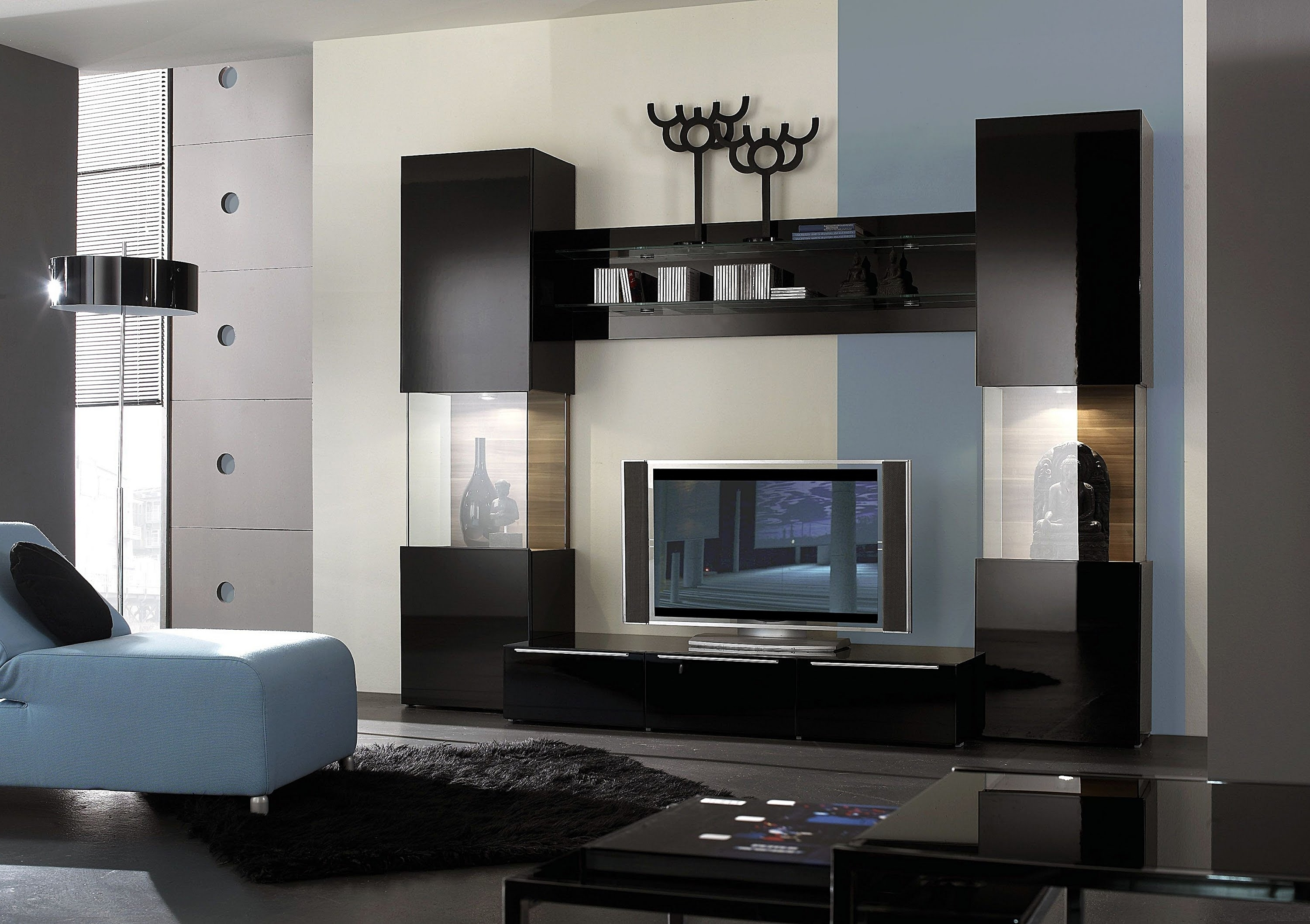 Modern Tv Wall Units Within Current Living Room Paint Modern Tv Wall Unit Decorating Furniture Paint (View 7 of 15)