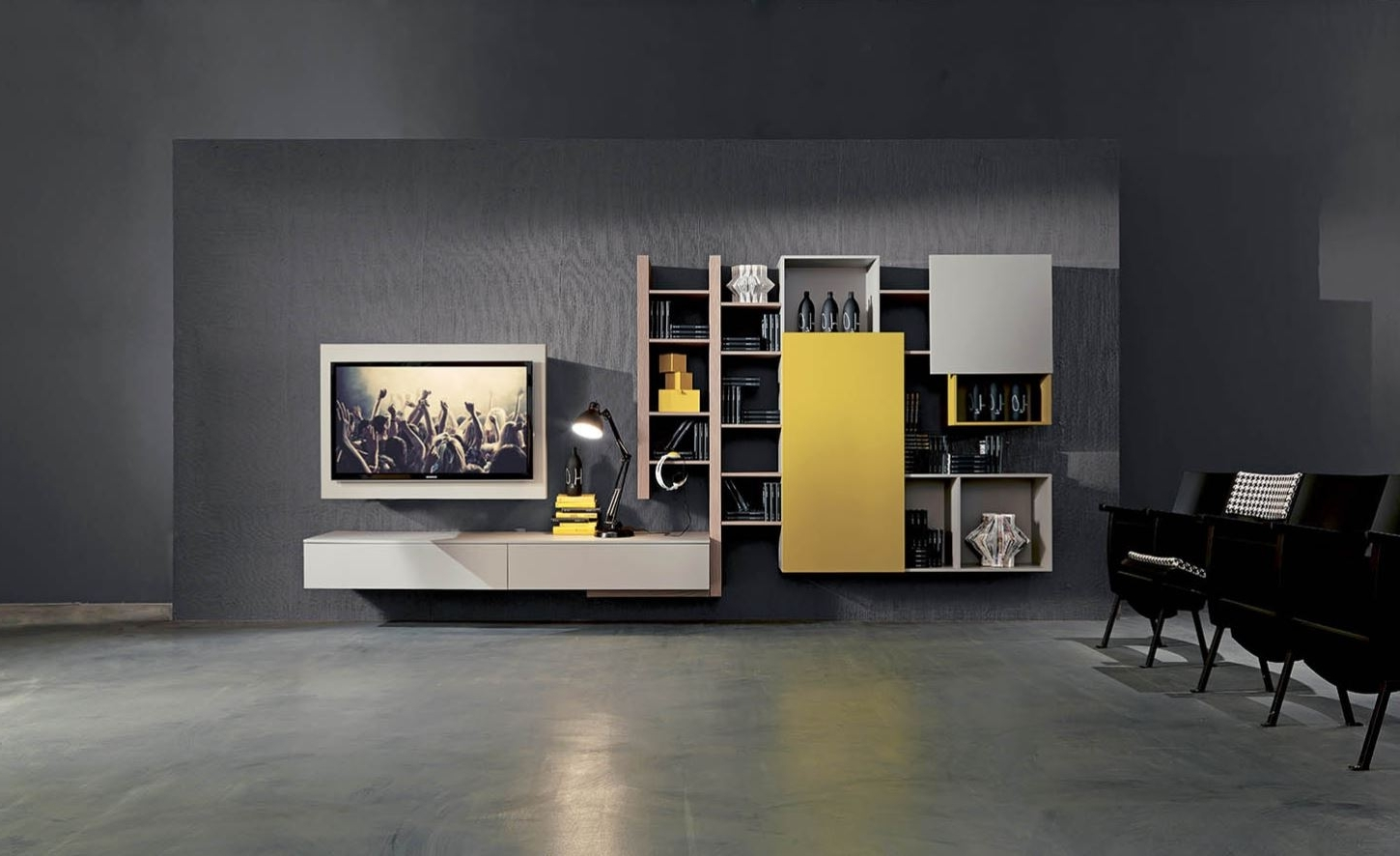 Modern Wall Units Inside Famous Modern Wall Units  Introducing Modern Italian Entertainment Wall (View 7 of 15)