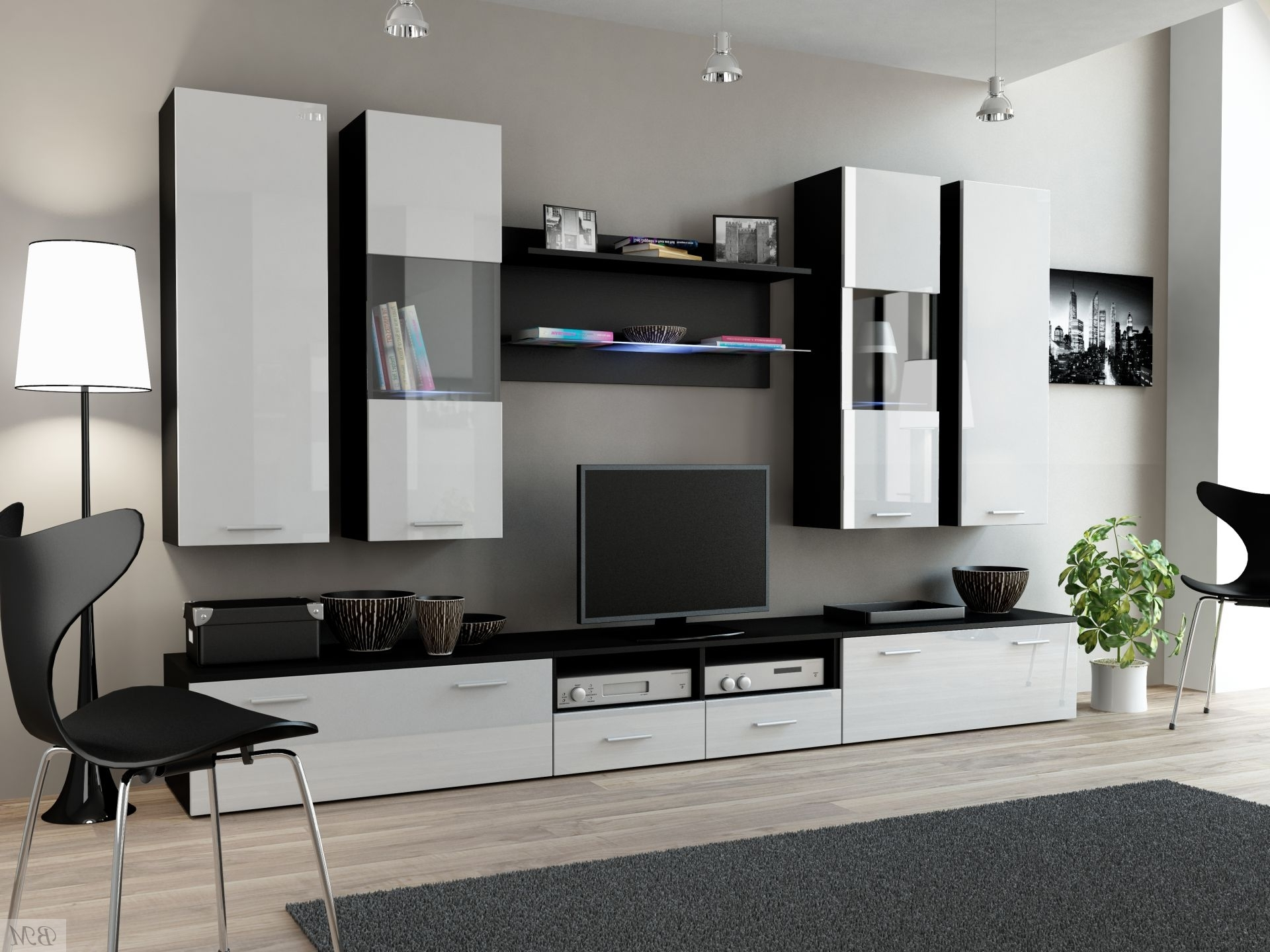 Modern Wall Units With 2017 Designer Wall Unit Simple 20 Modern Wall Units Cama Meble Wall (View 12 of 15)