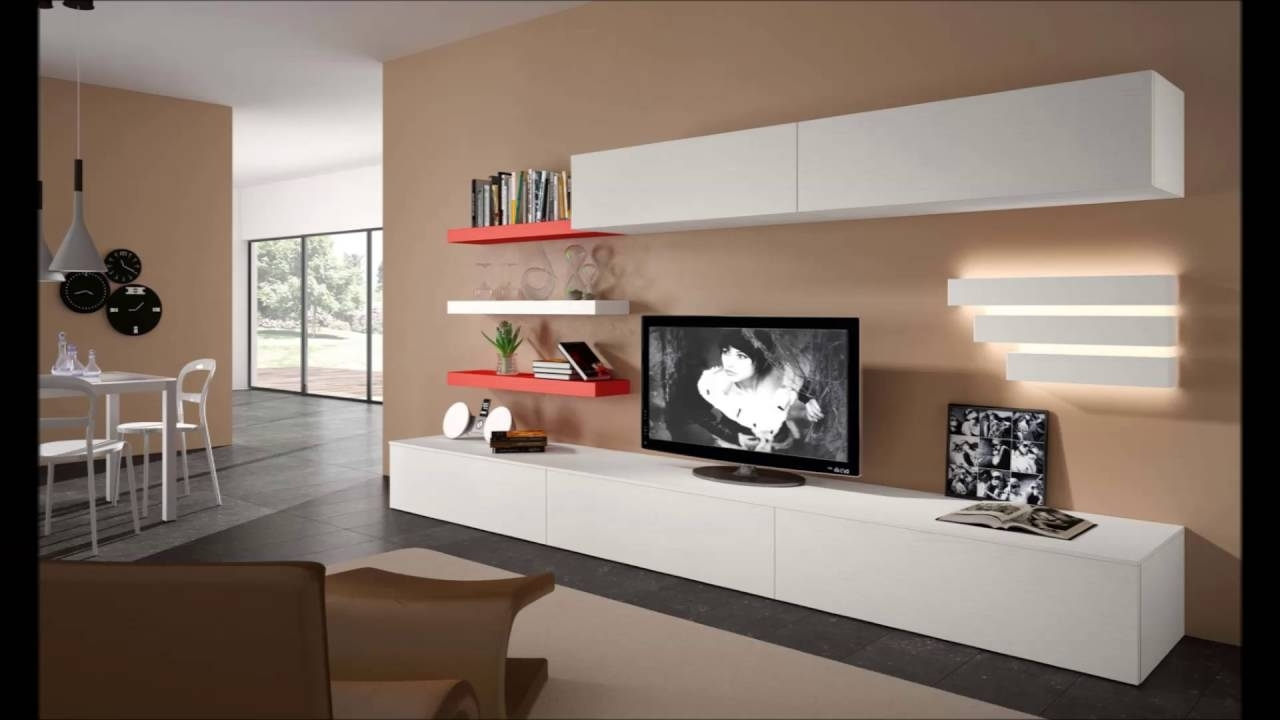 Modern Wall Units Within Most Recent Modern Tv Units Italian Furniture Modern Wall Units Modern – Youtube (View 6 of 15)