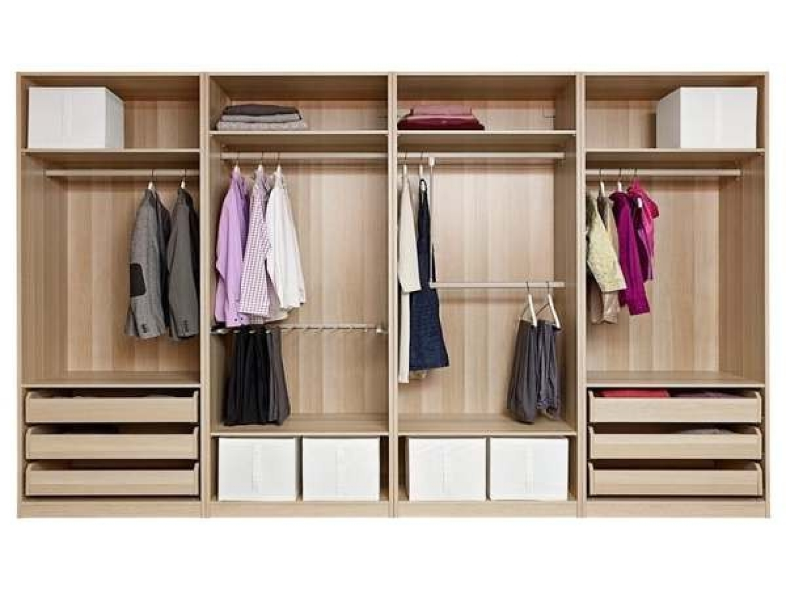 Modest Decoration Wardrobe Shelves And Drawers Mirrored With Inside Most Current Wardrobe With Shelves And Drawers (View 7 of 15)