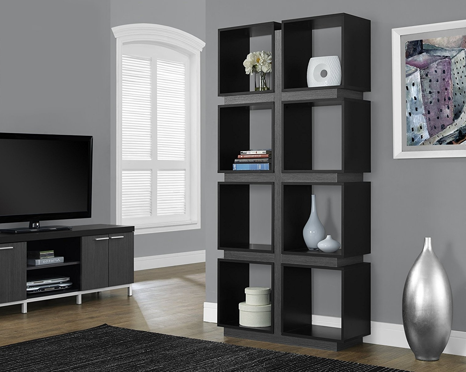 Monarch Bookcases Inside 2017 Furniture Home: Monarch Specialties White And Grey Open Bookcase I (View 11 of 15)