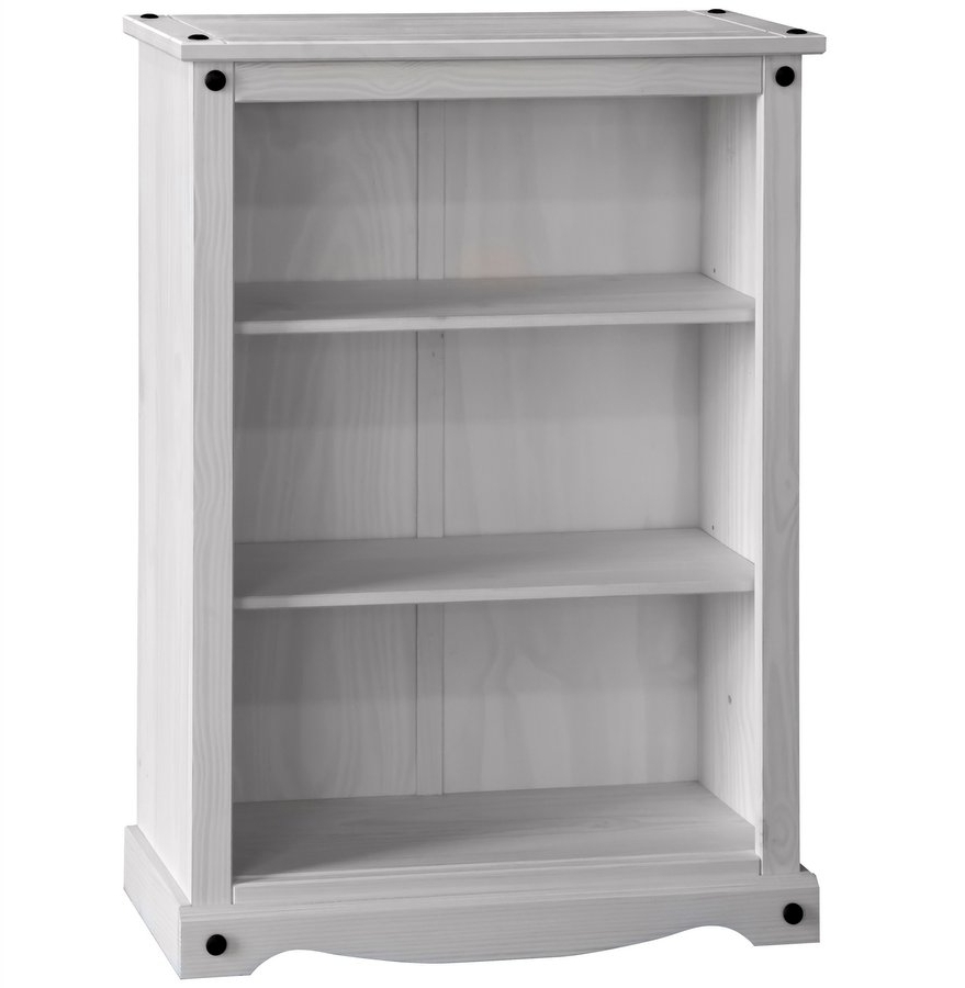 Most Current Abdabs Furniture – Corona Whitewash Low Bookcase Pertaining To Whitewash Bookcases (View 7 of 15)