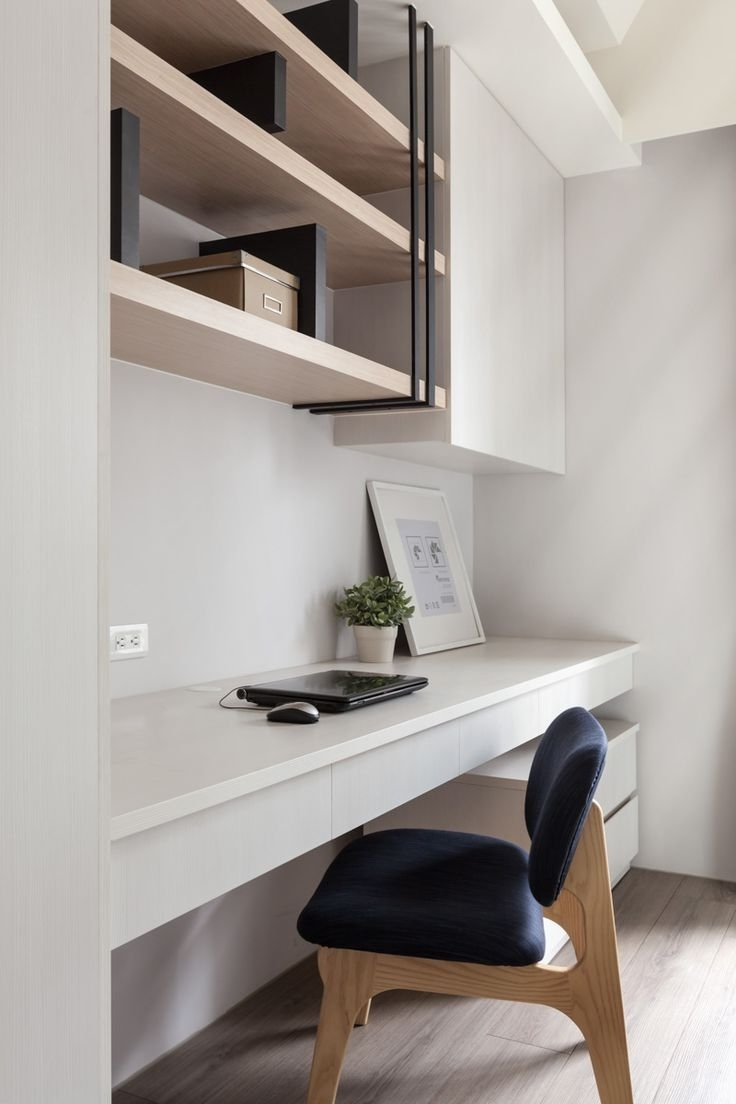 Most Current Adore This Sophisticated Study Nook With Custom Made Storage In Study Shelving (View 8 of 15)