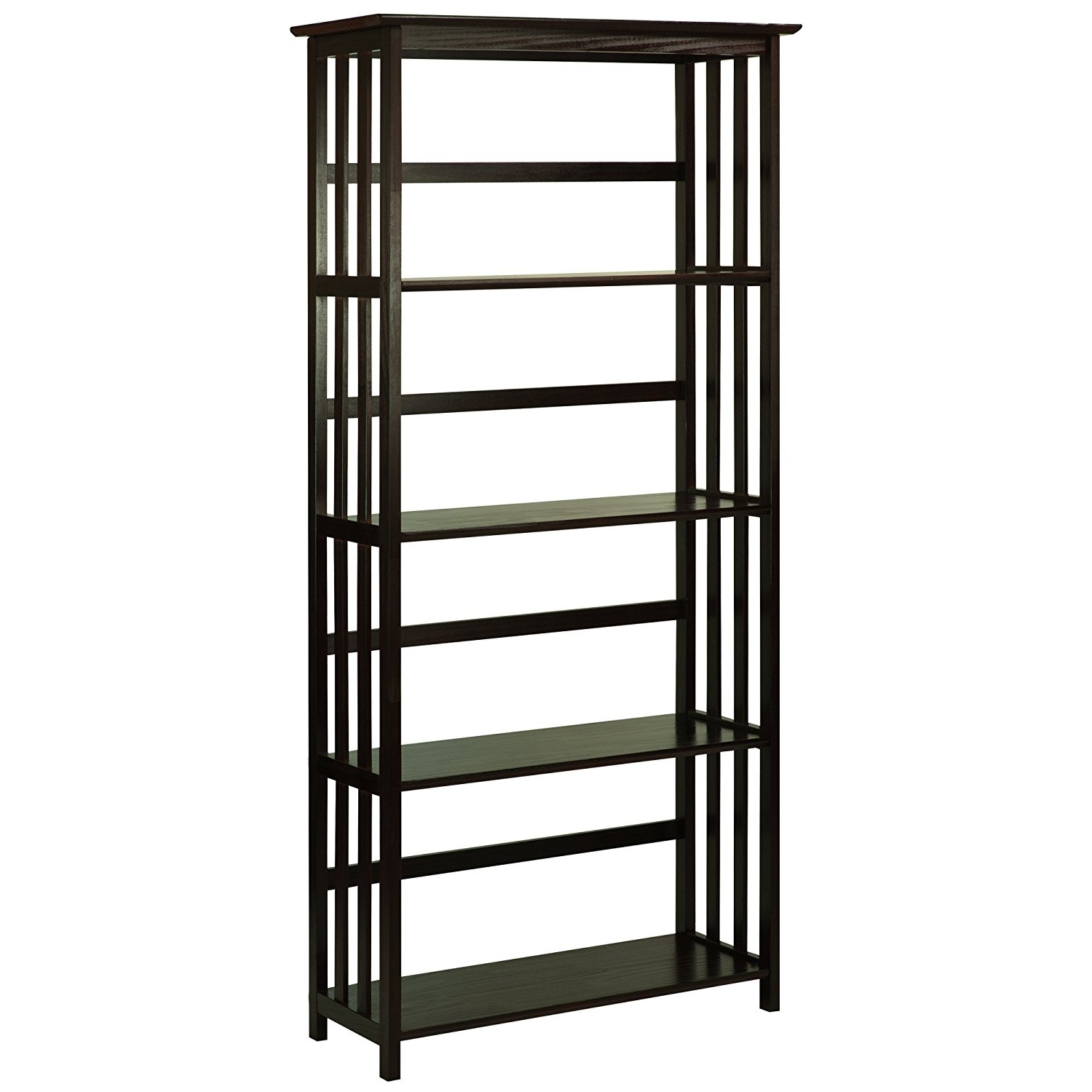 Most Current Amazon: Casual Home Mission Style 5 Shelf Bookcase, Espresso With Mission Style Bookcases (View 6 of 15)