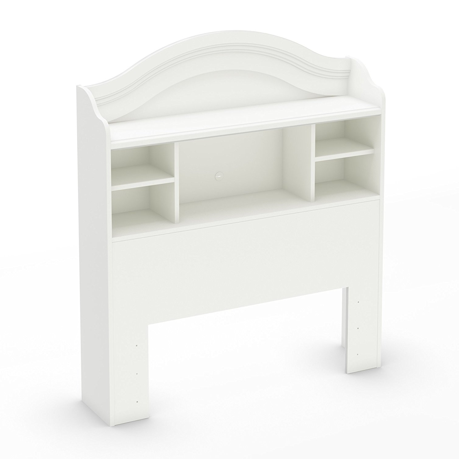 Most Current Amazon: South Shore Savannah Twin Bookcase Headboard, Pure Regarding Twin Headboard Bookcases (View 4 of 15)