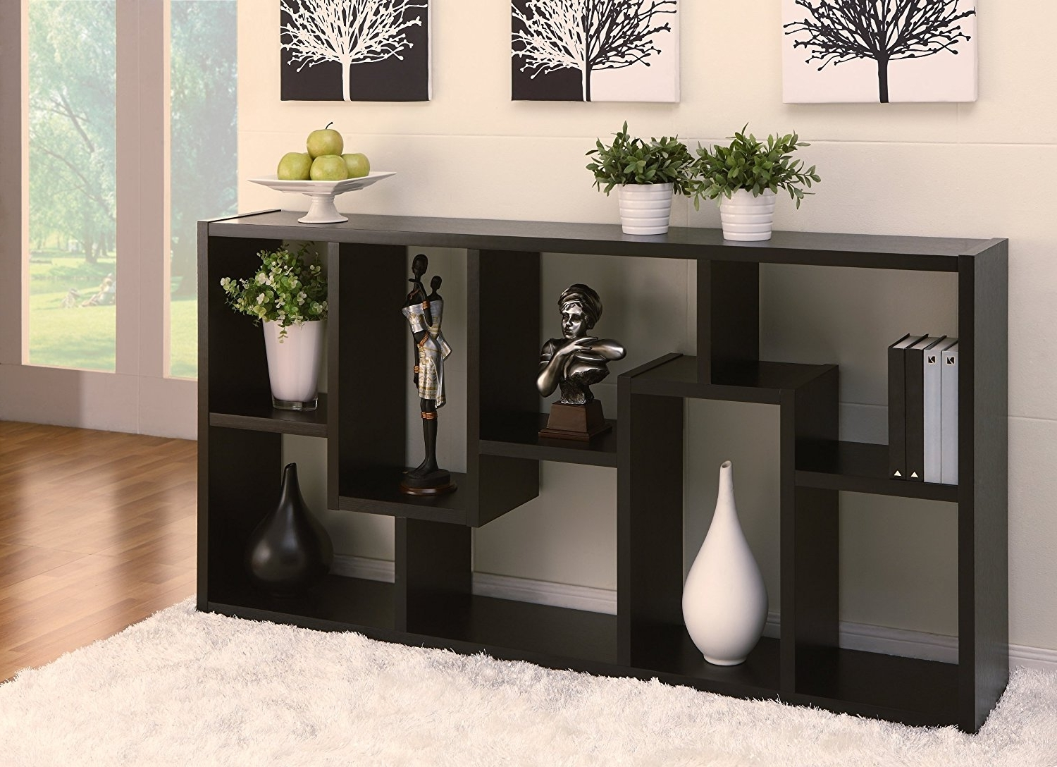 Most Current Backless Bookshelves For Amazon: Iohomes Modern Backless Display Stand/bookcase, Black (View 10 of 15)