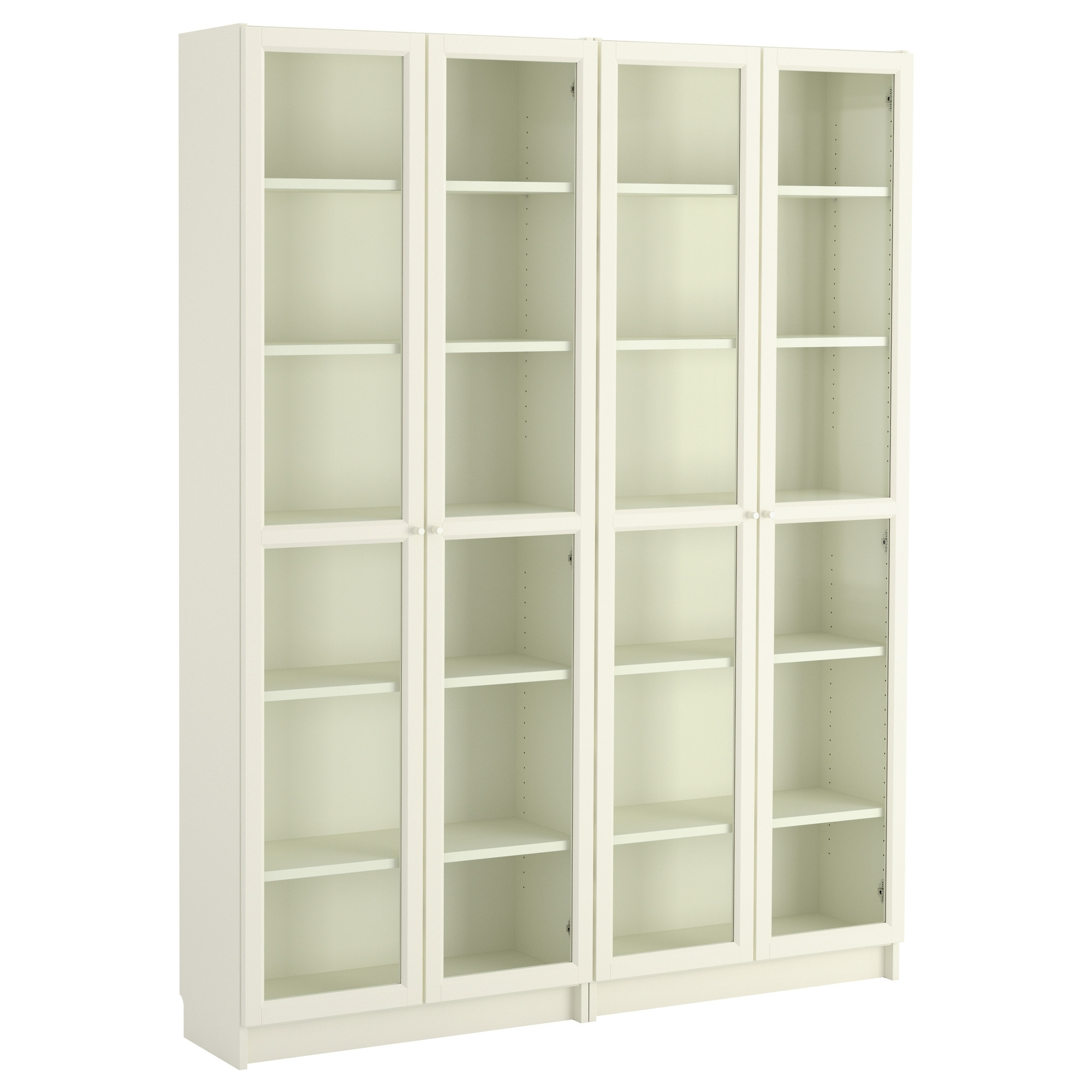 Most Current Billy / Oxberg Bookcase – White/glass, 160x202x28 Cm – Ikea For Glass Bookcases (View 7 of 15)